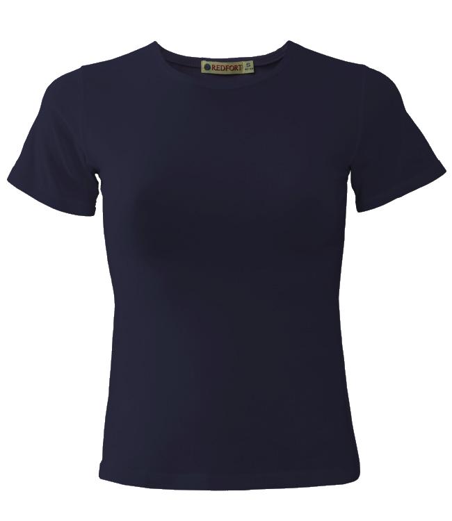 Футболка женская Redfort lady стрейч 195, темно-синяя