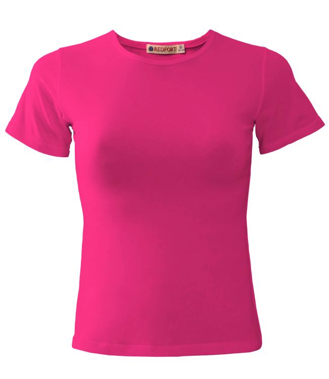 Футболка женская Redfort lady стрейч 195, розовая