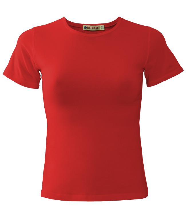 Футболка женская Redfort lady стрейч 195, красная