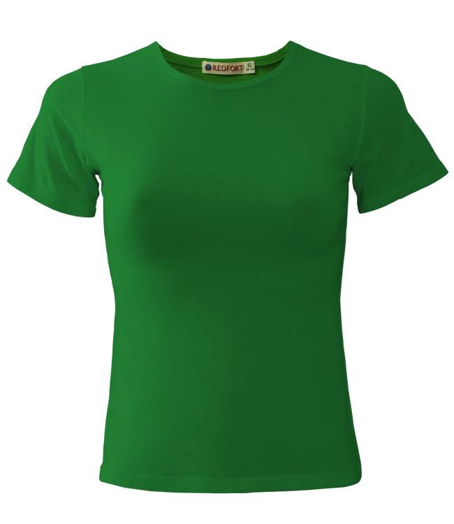 Футболка женская Redfort lady стрейч 195, ярко-зеленая