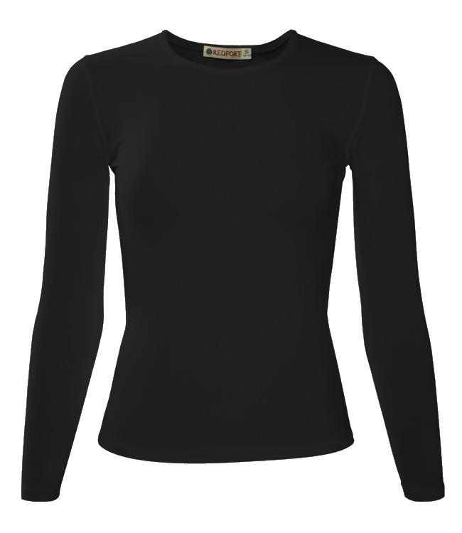 Футболка женская Redfort lady длинный рукав 195, черная