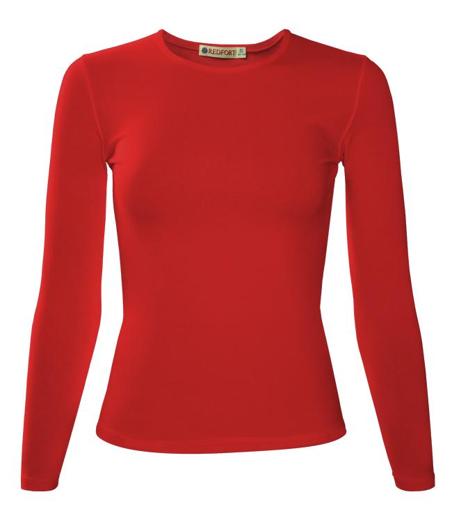 Футболка женская Redfort lady длинный рукав 195, красная