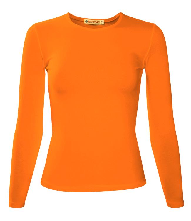 Футболка женская Redfort lady длинный рукав 195, оранжевая