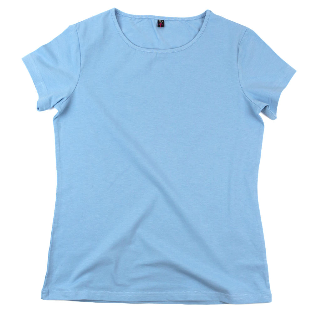 Футболка женская StarkCotton Стрейч 180, светло-голубая