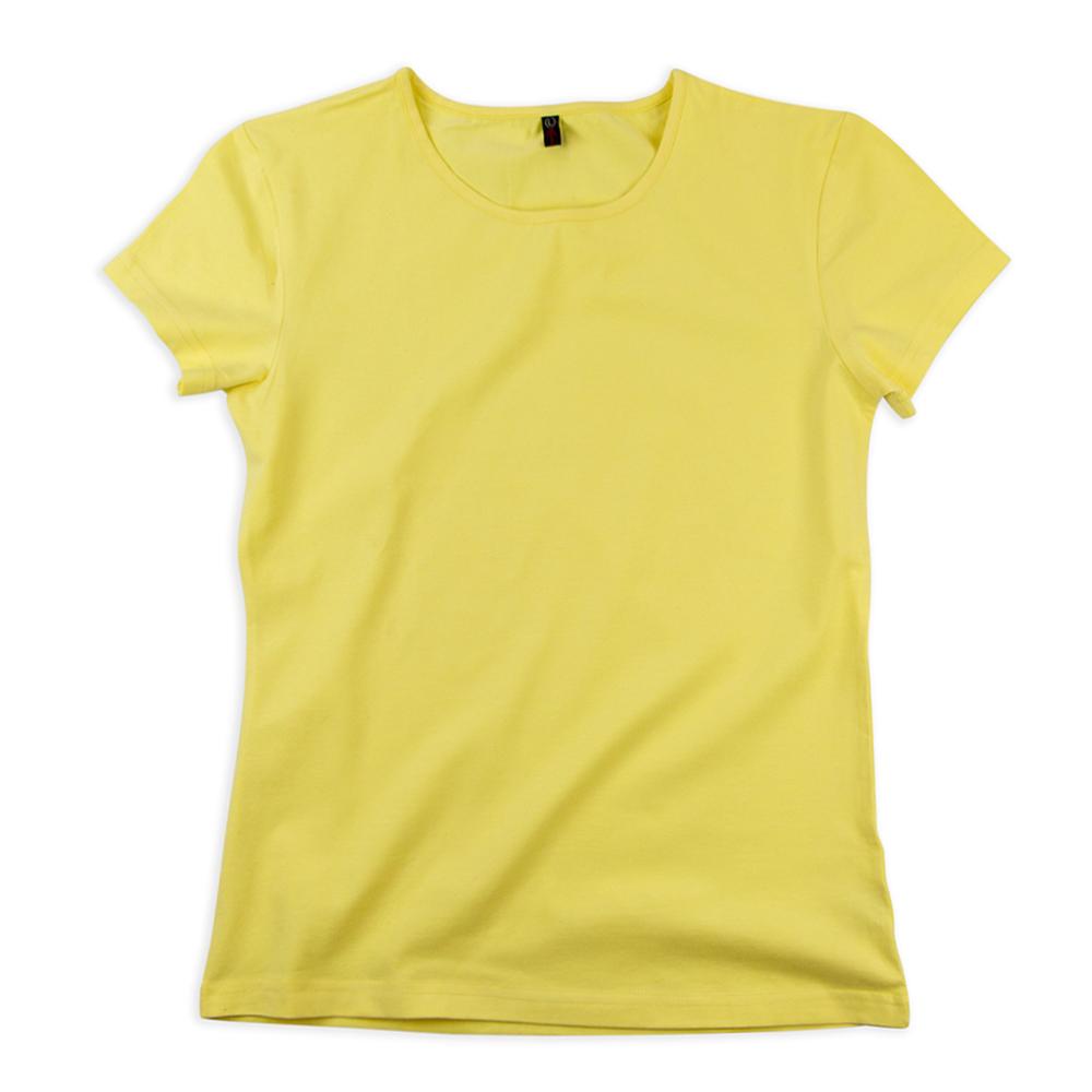 Футболка женская StarkCotton Стрейч 180, светло-желтая