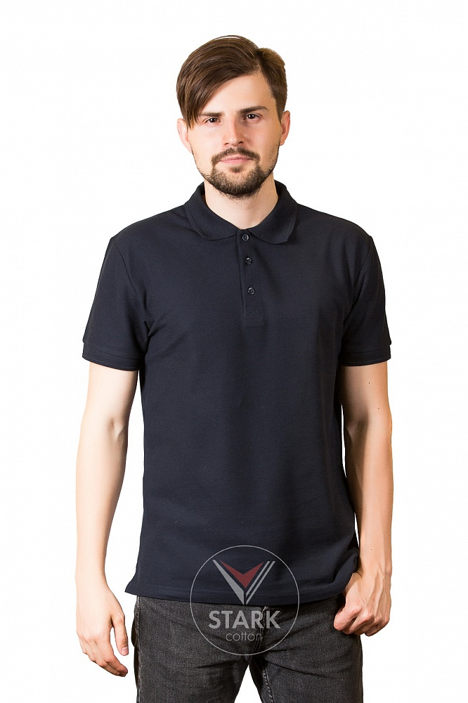 Рубашка поло мужская StarkCotton Классика 180, темно-синяя