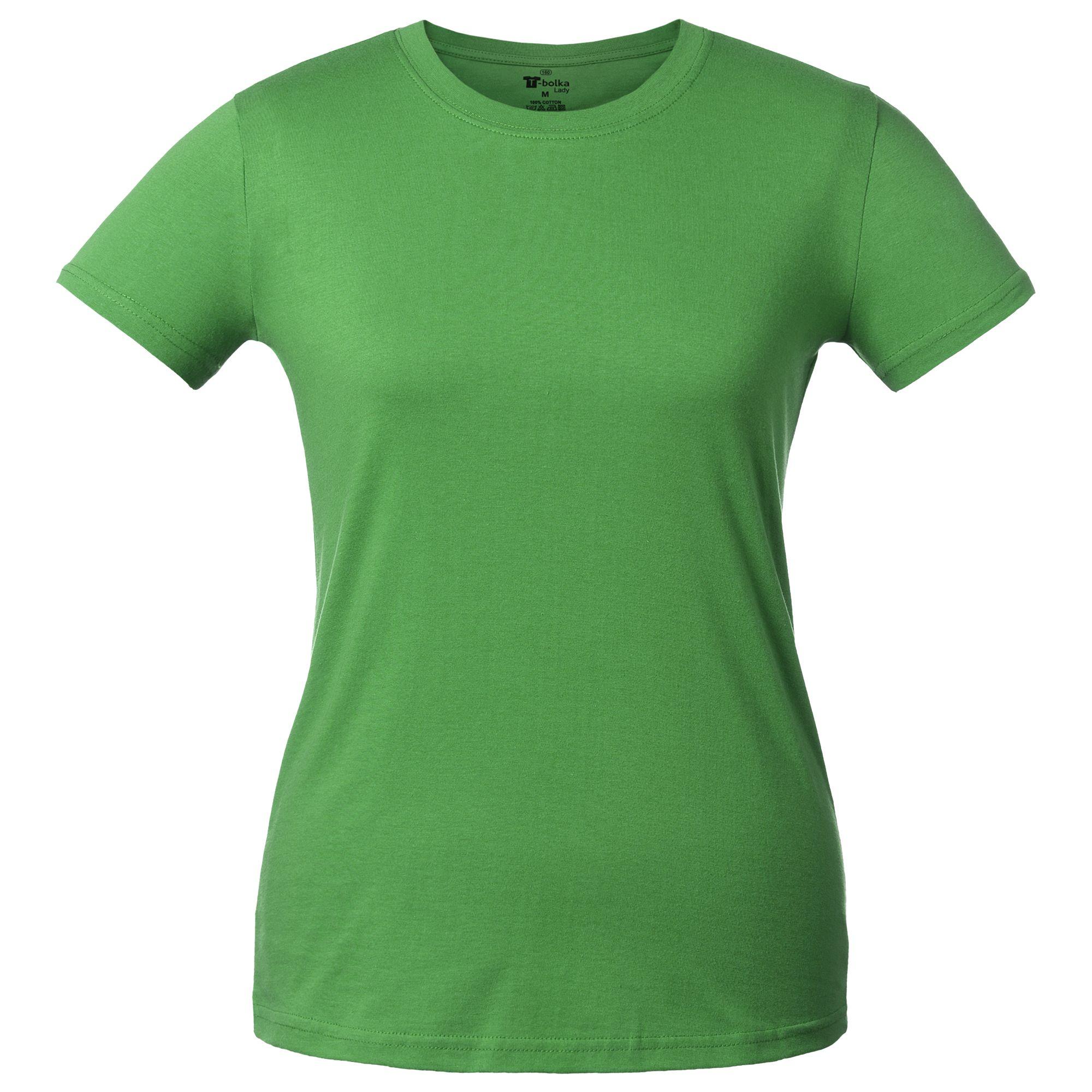 Футболка женская T-bolka Lady, ярко-зеленая