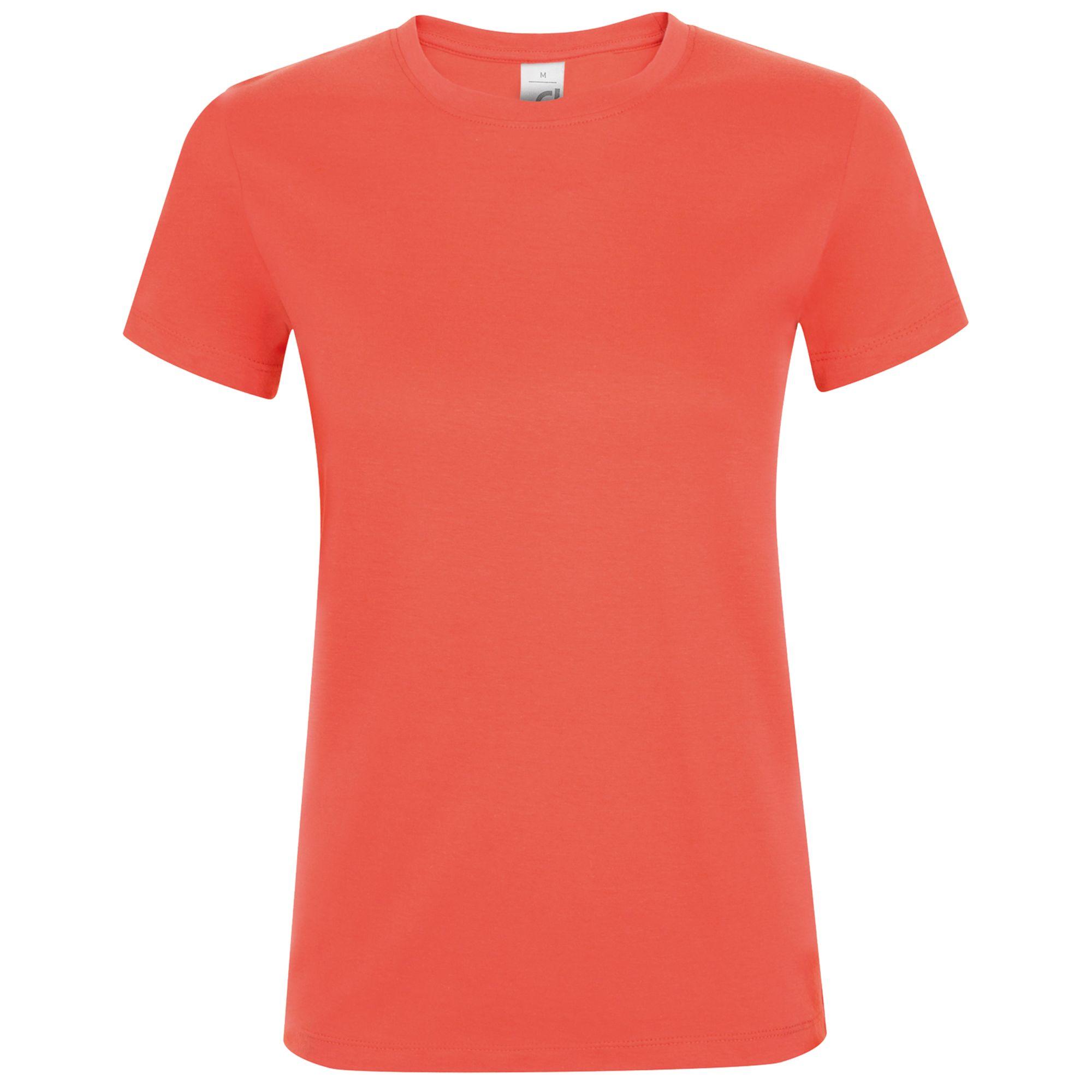 Футболка женская REGENT WOMEN, розовая (коралловая)