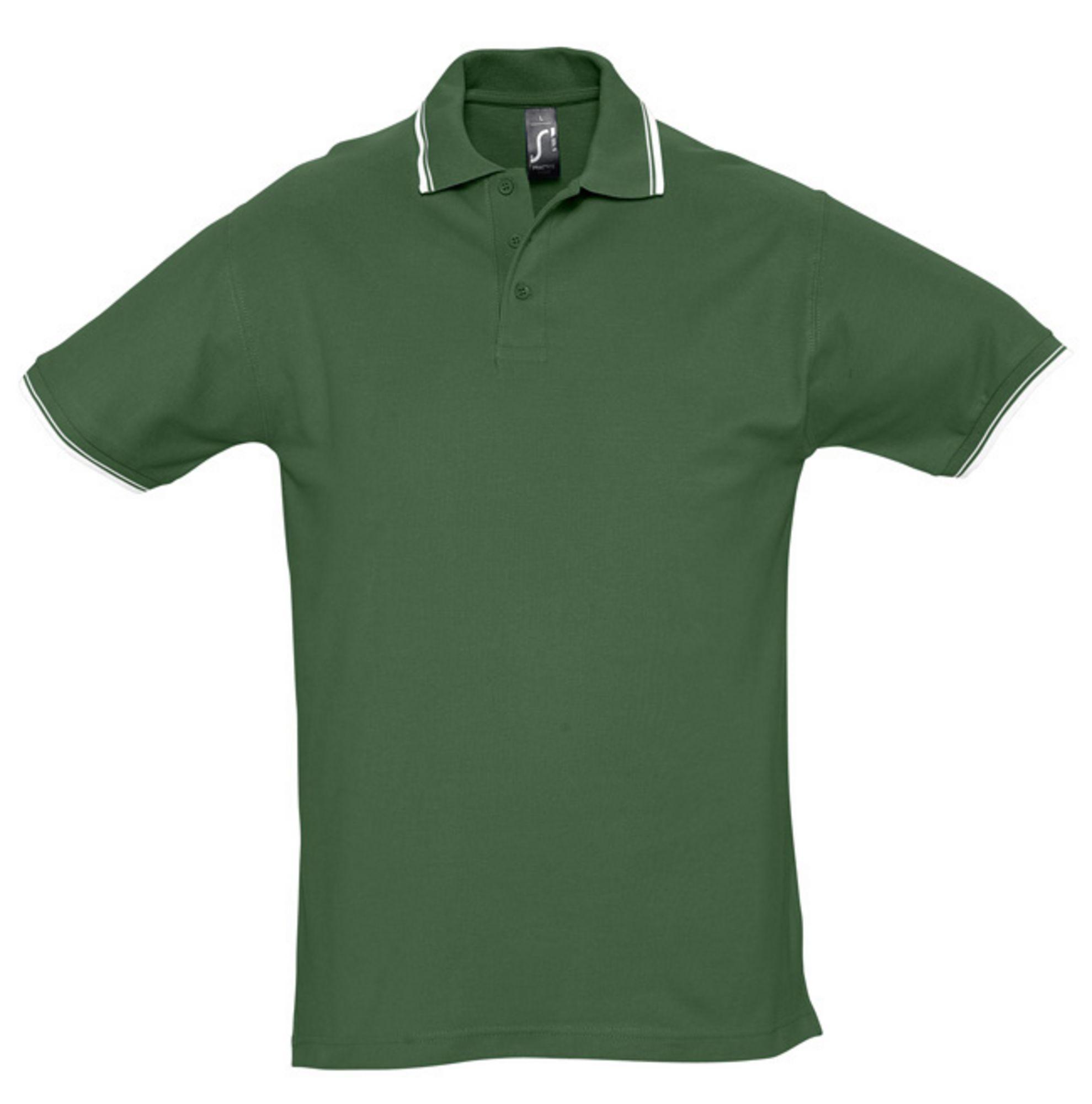 Рубашка поло мужская PRACTICE 270, зеленый/белый