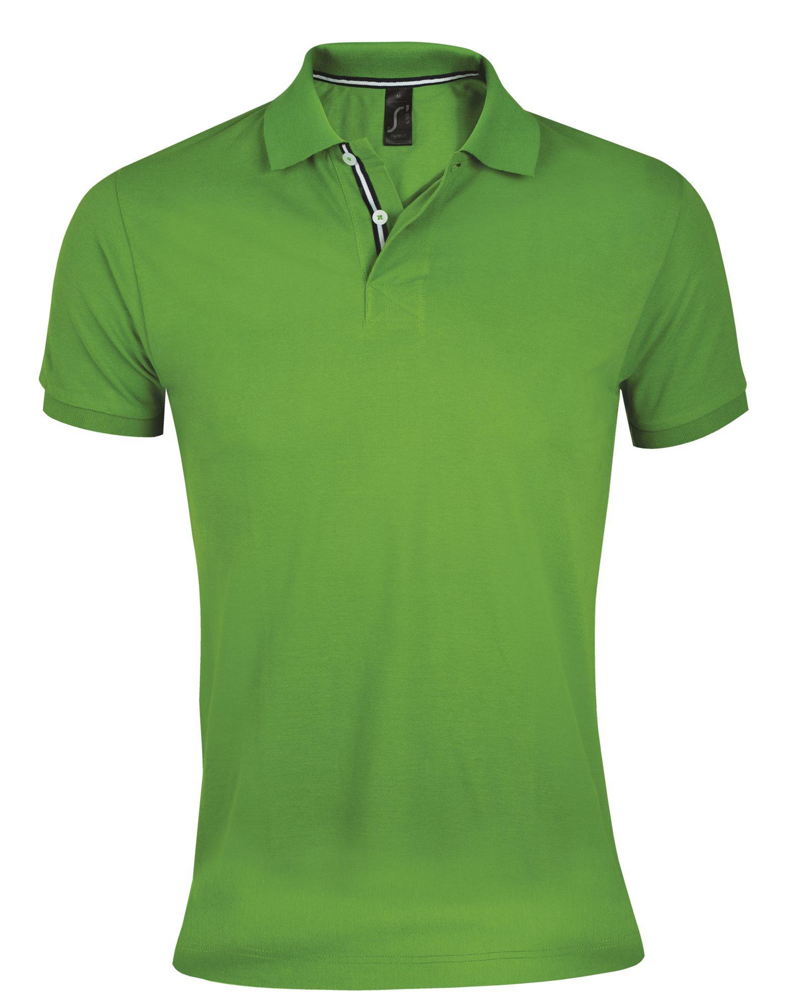 Рубашка поло мужская PATRIOT 200, зеленая с черным