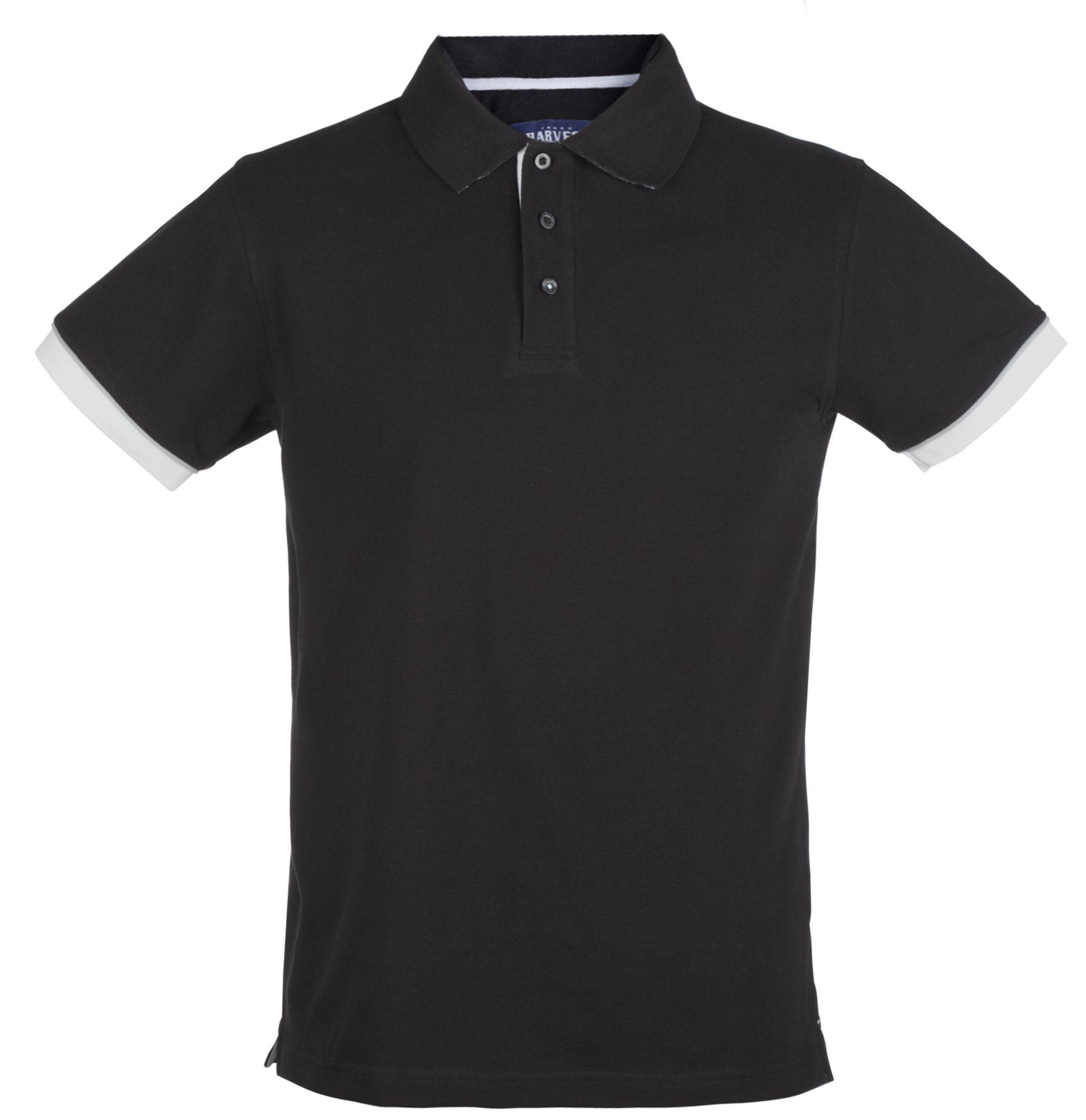 Рубашка поло мужская ANDERSON, черная с белым