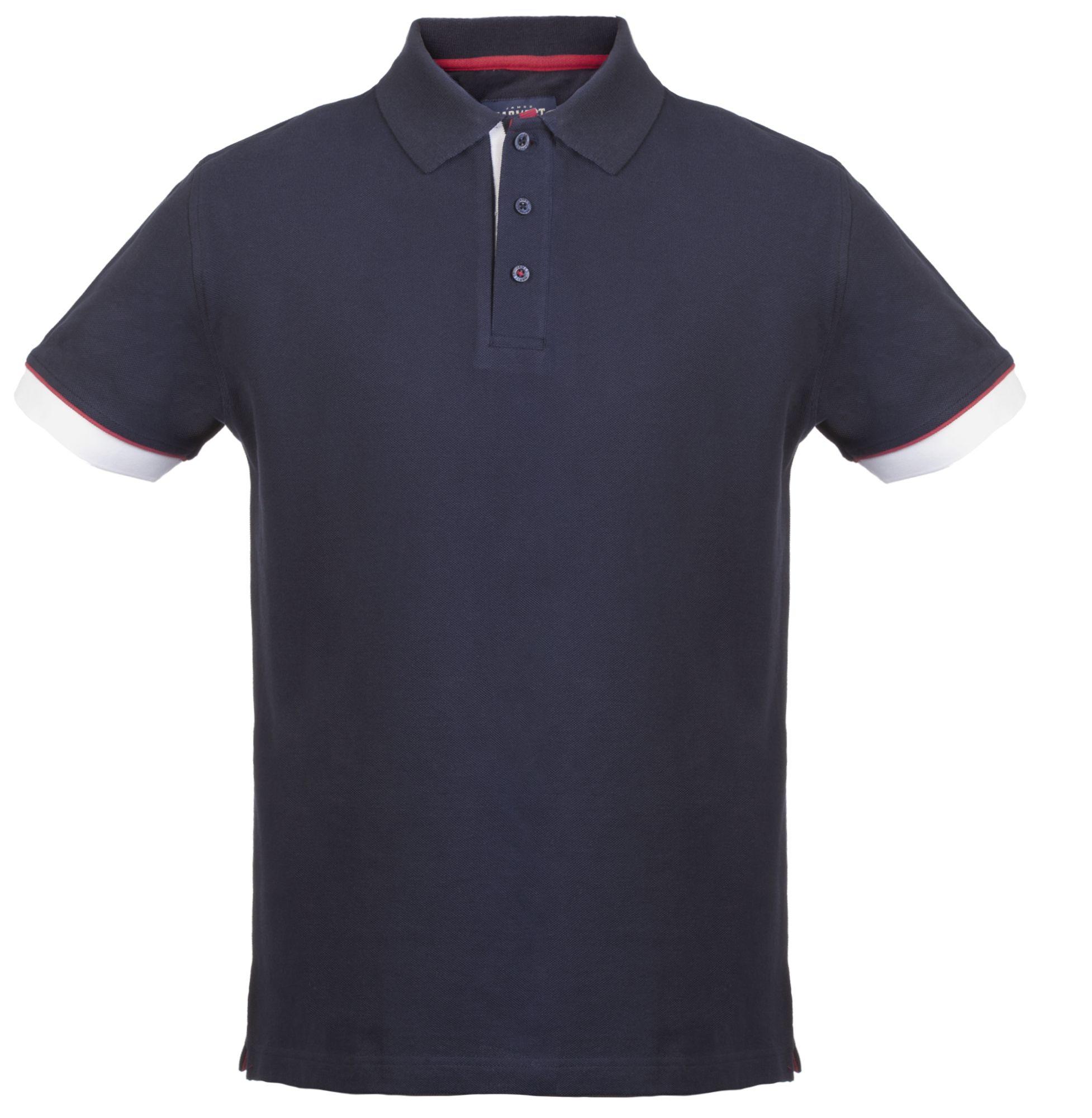 Рубашка поло мужская ANDERSON, темно-синяя с белым