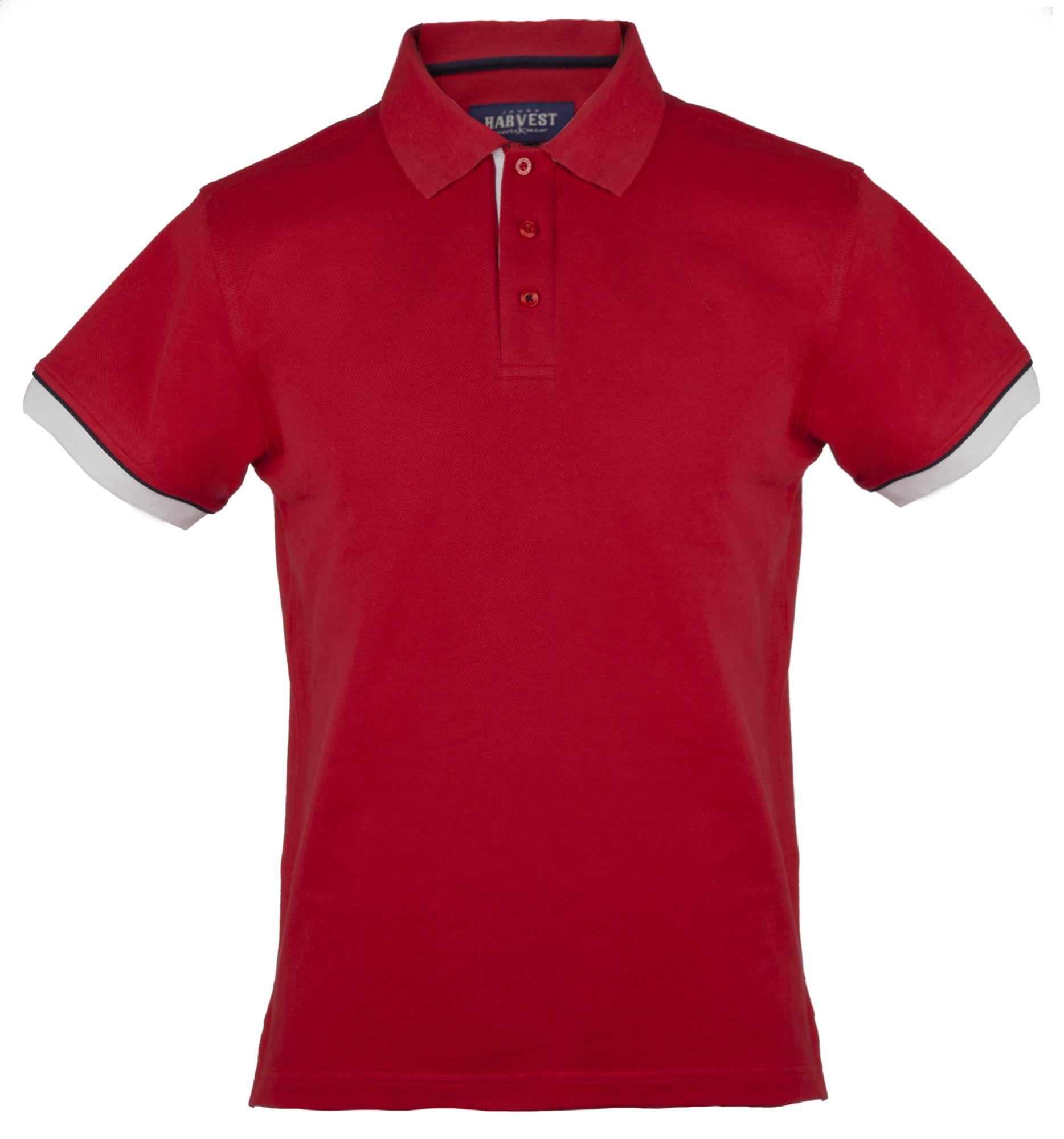 Рубашка поло мужская ANDERSON, красная с белым
