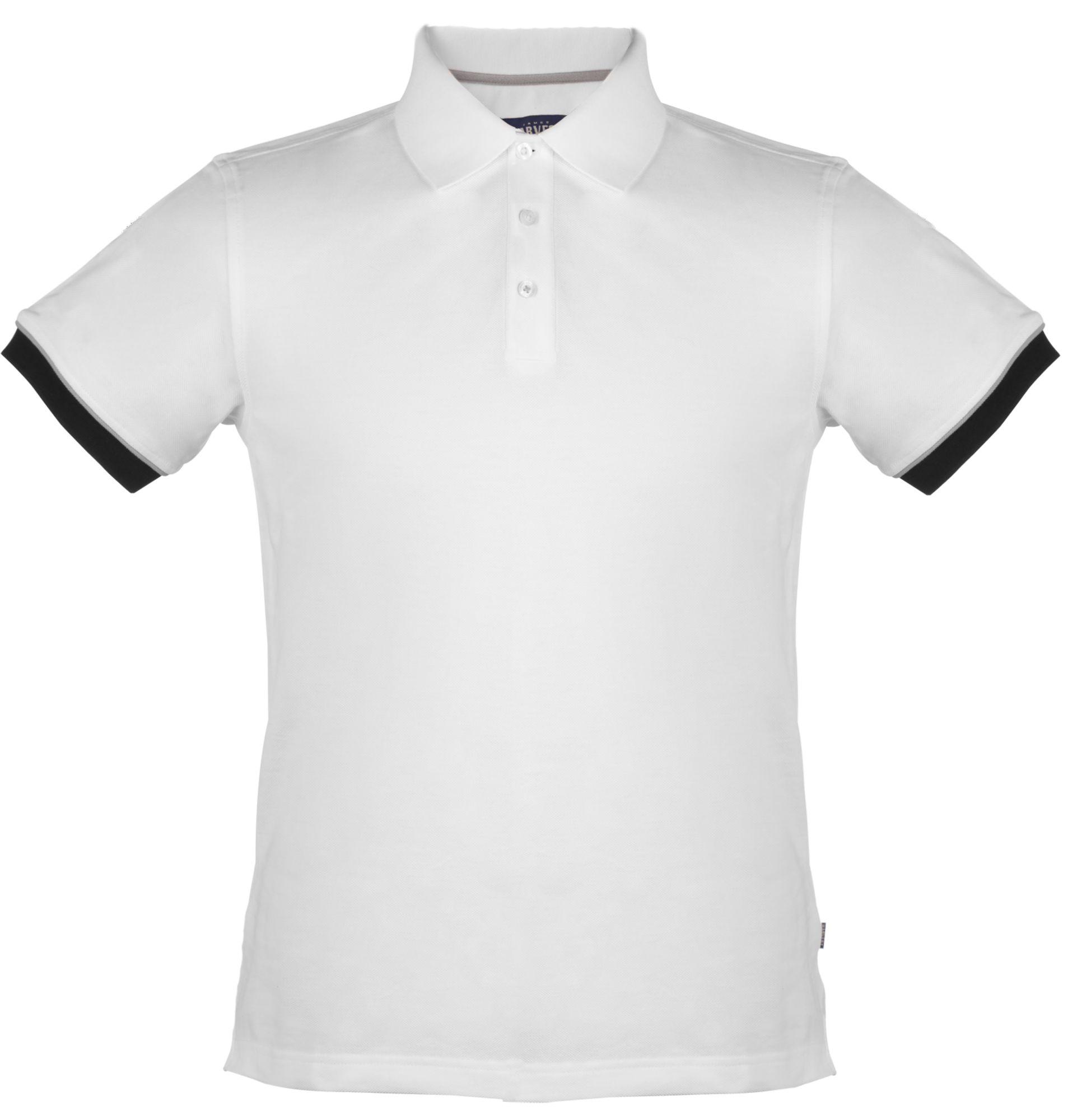 Рубашка поло мужская ANDERSON, белая с черным