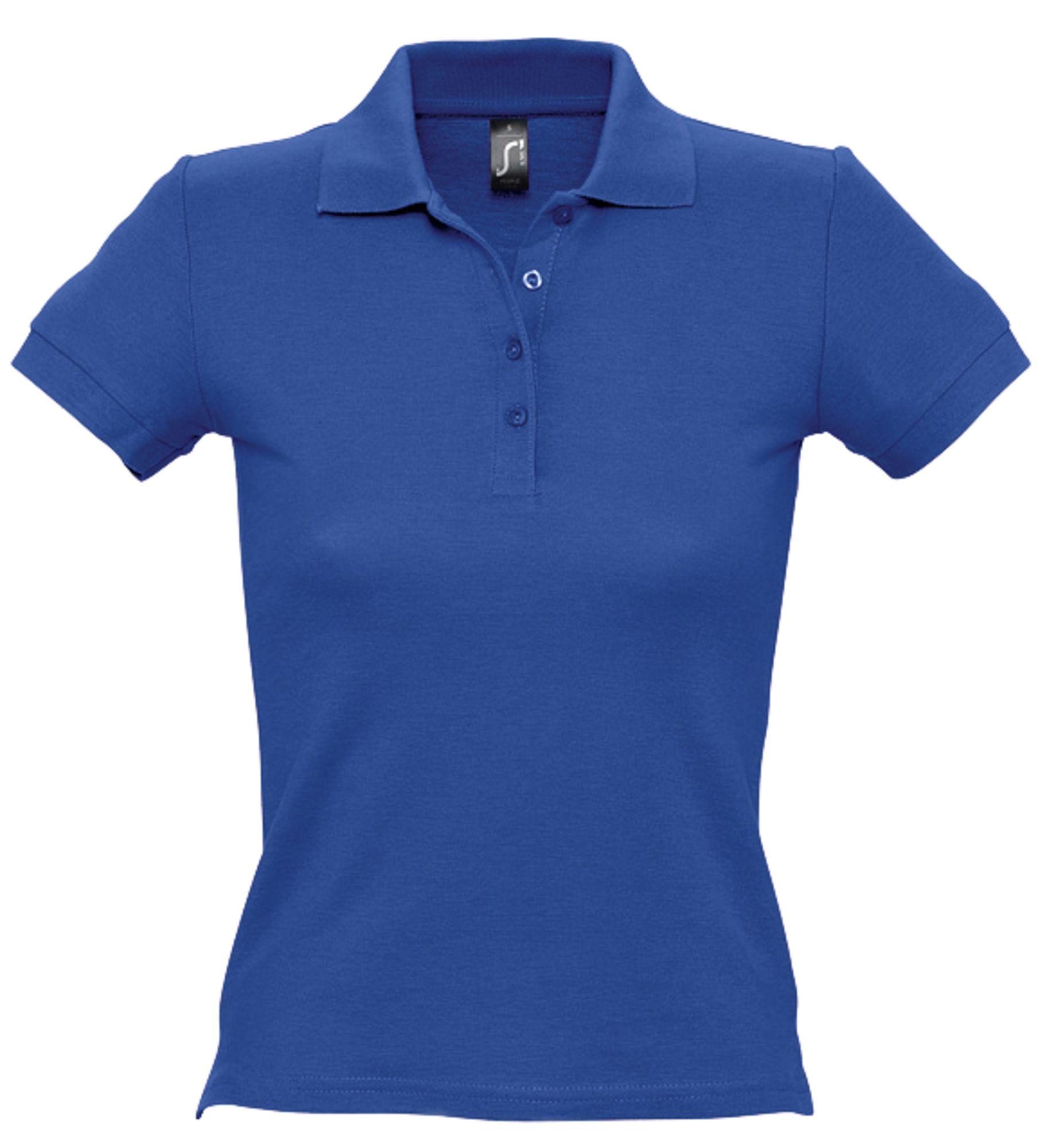 Рубашка поло женская PEOPLE 210, ярко-синяя (royal)