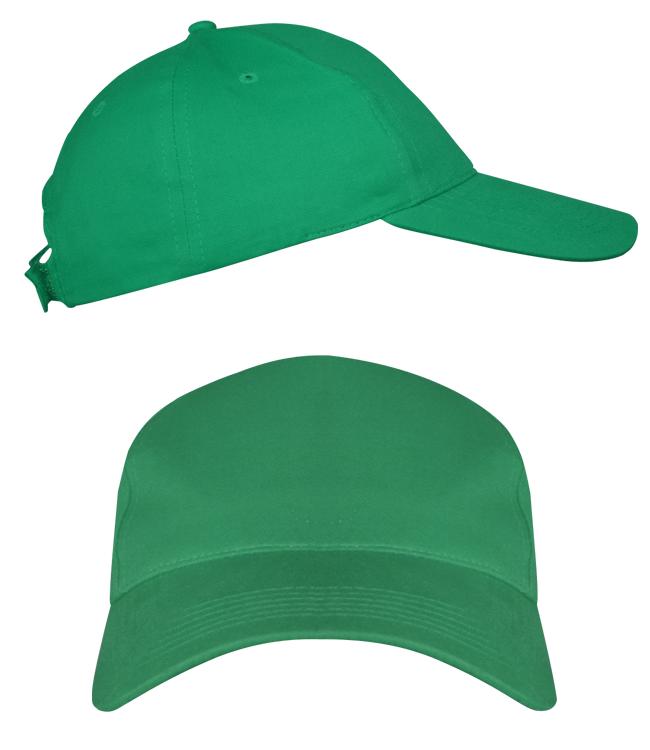 Бейсболки Leader 70 на липучке, ярко-зеленая