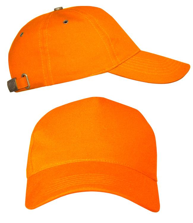 Бейсболки Leader 100 на металлической застежке, оранжевая