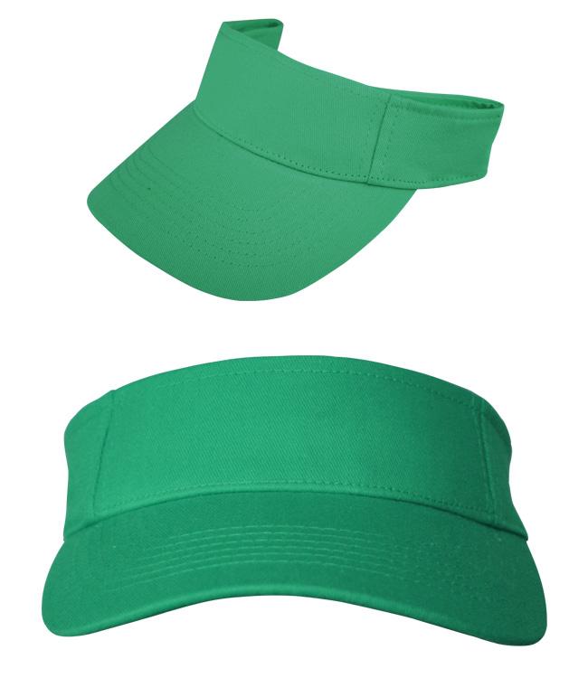 Козырек Leader на липучке, ярко-зеленый