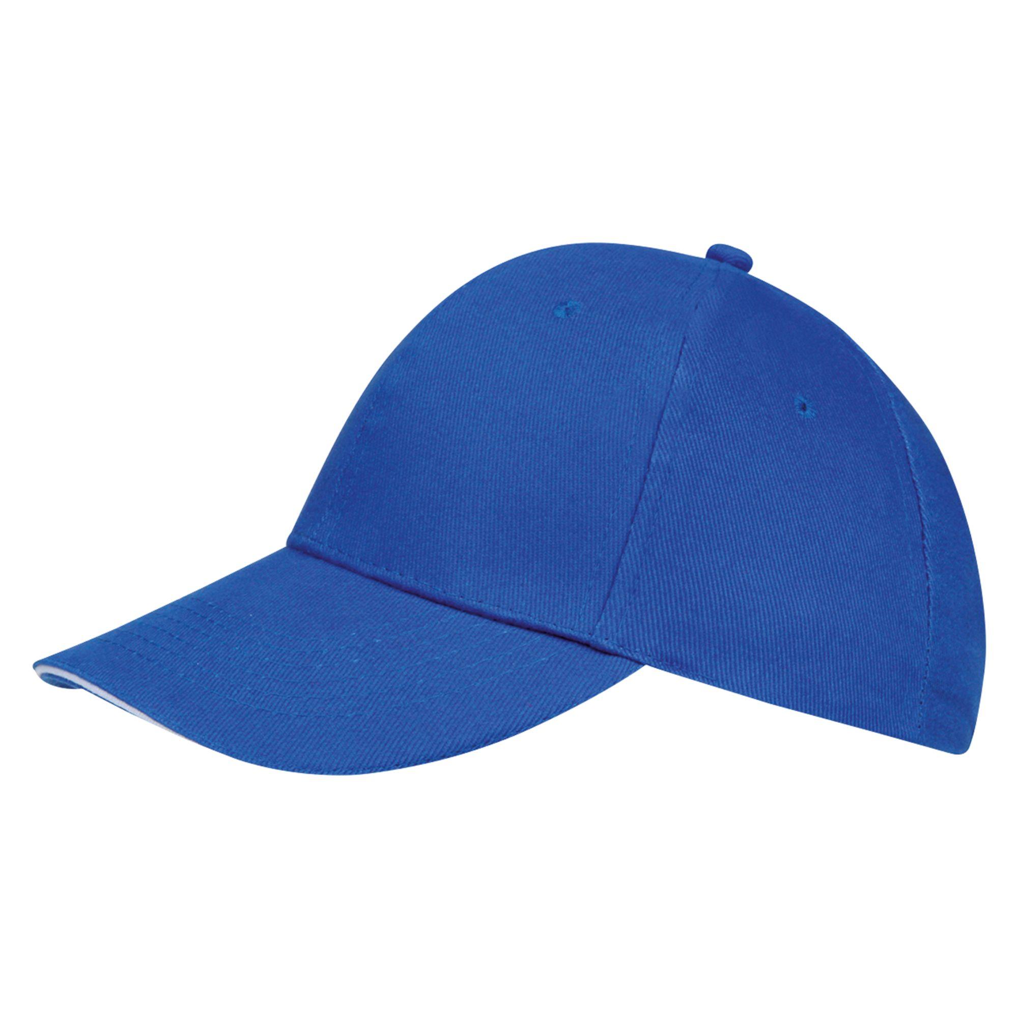 Бейсболка BUFFALO, ярко-синяя с белым