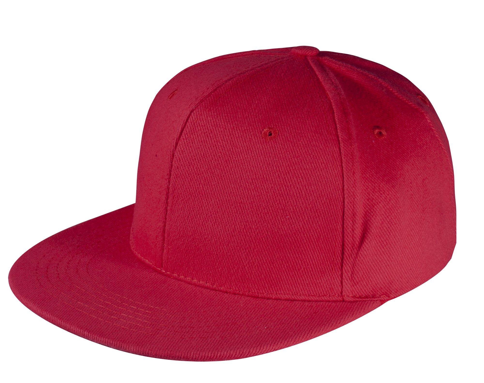 Бейсболка Unit Snapback с прямым козырьком, красная