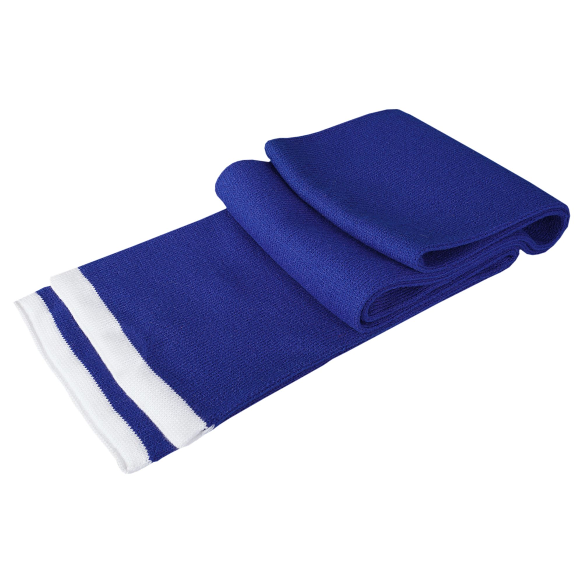 Шарф Leader, синий (василек) с белым