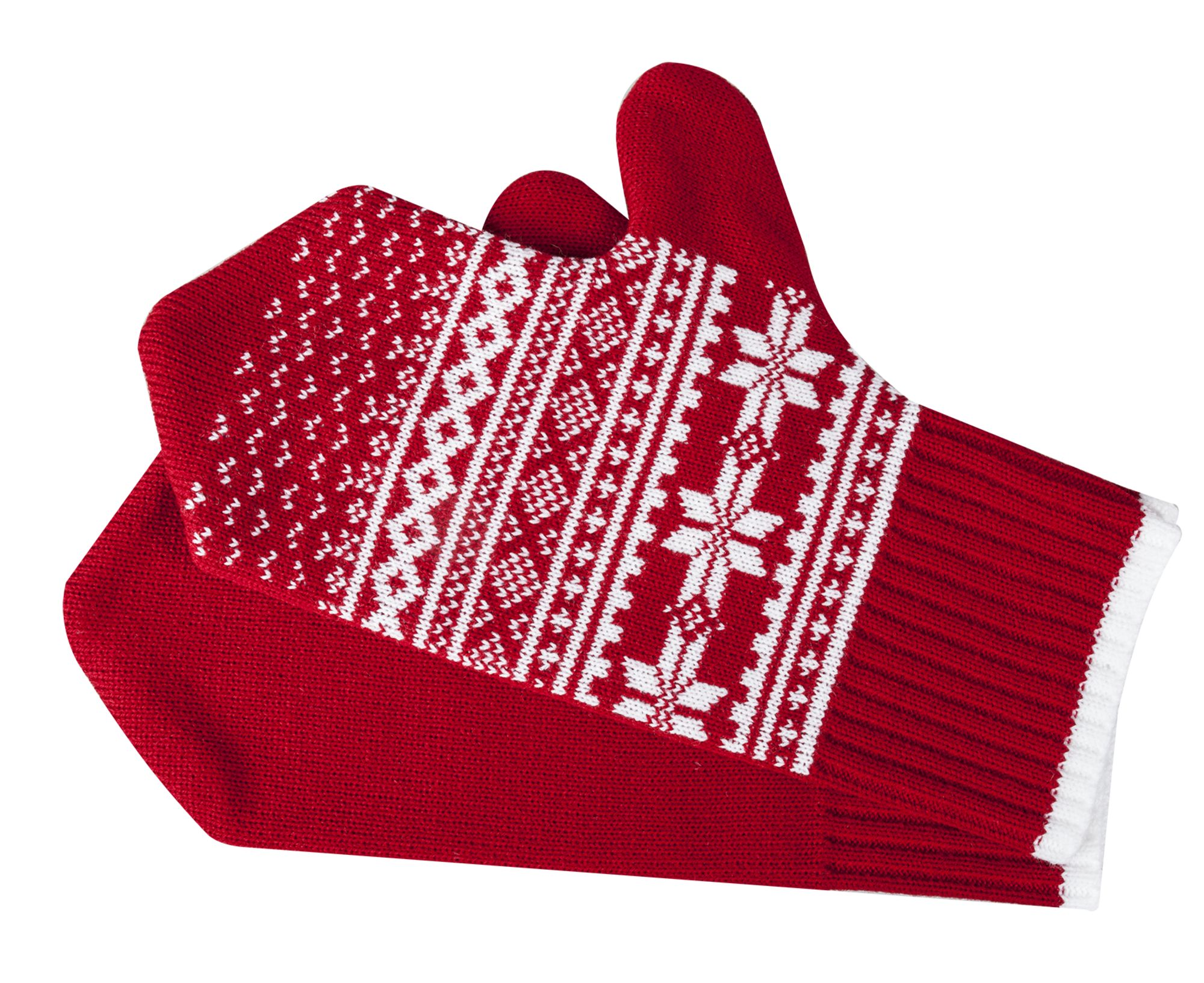 Варежки «Скандик», красные
