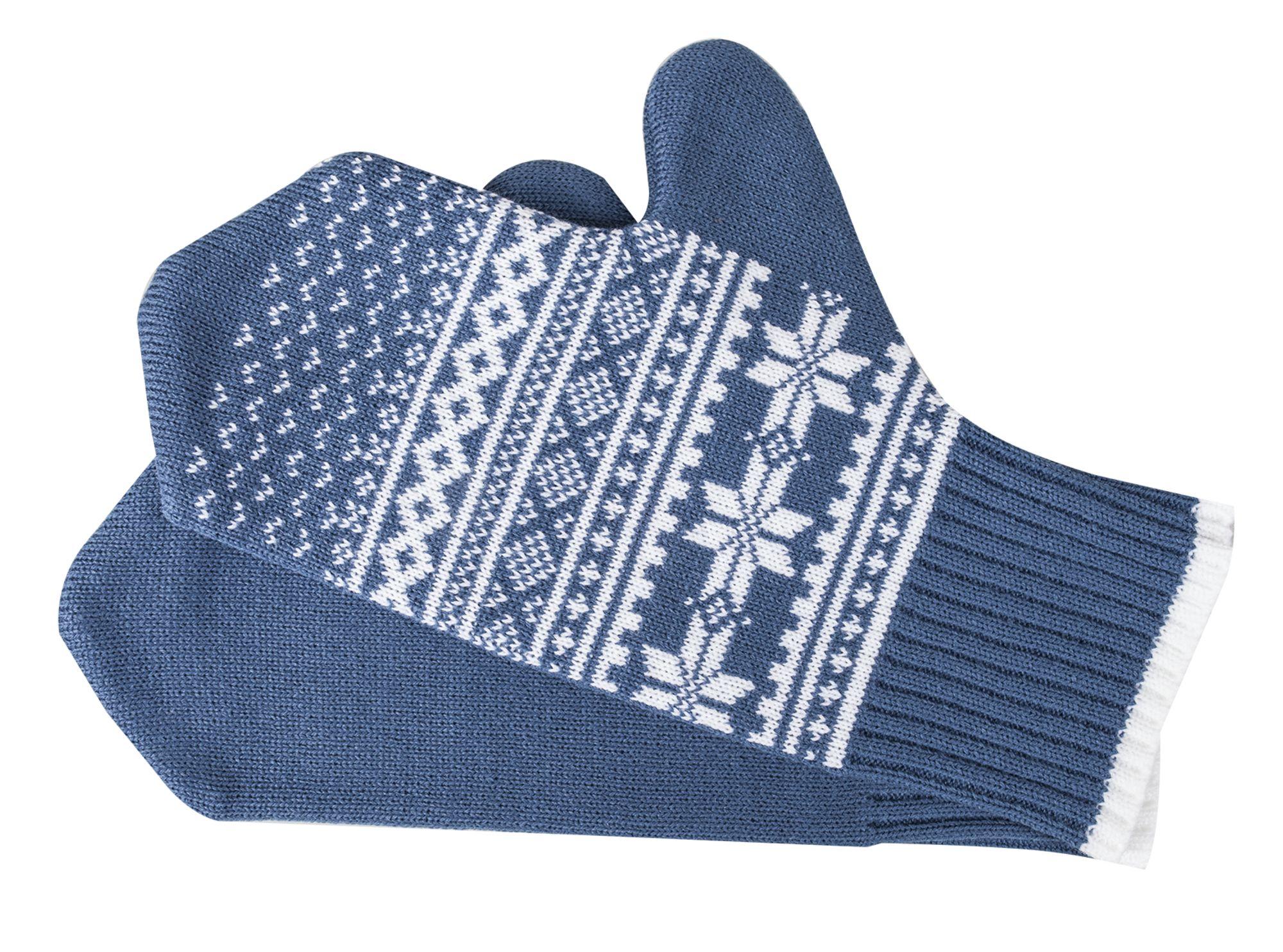 Варежки «Скандик», синие (индиго)