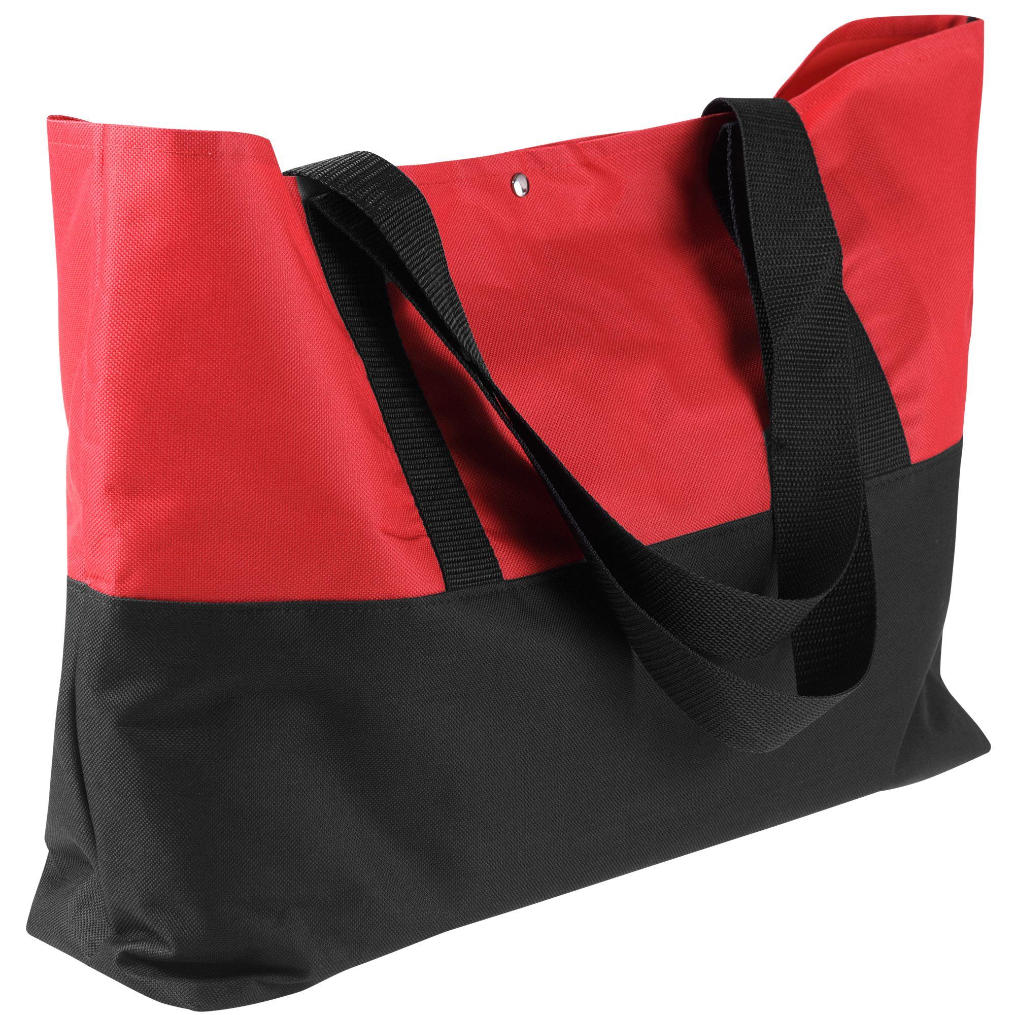 Сумка для покупок Seaside, черно-красная