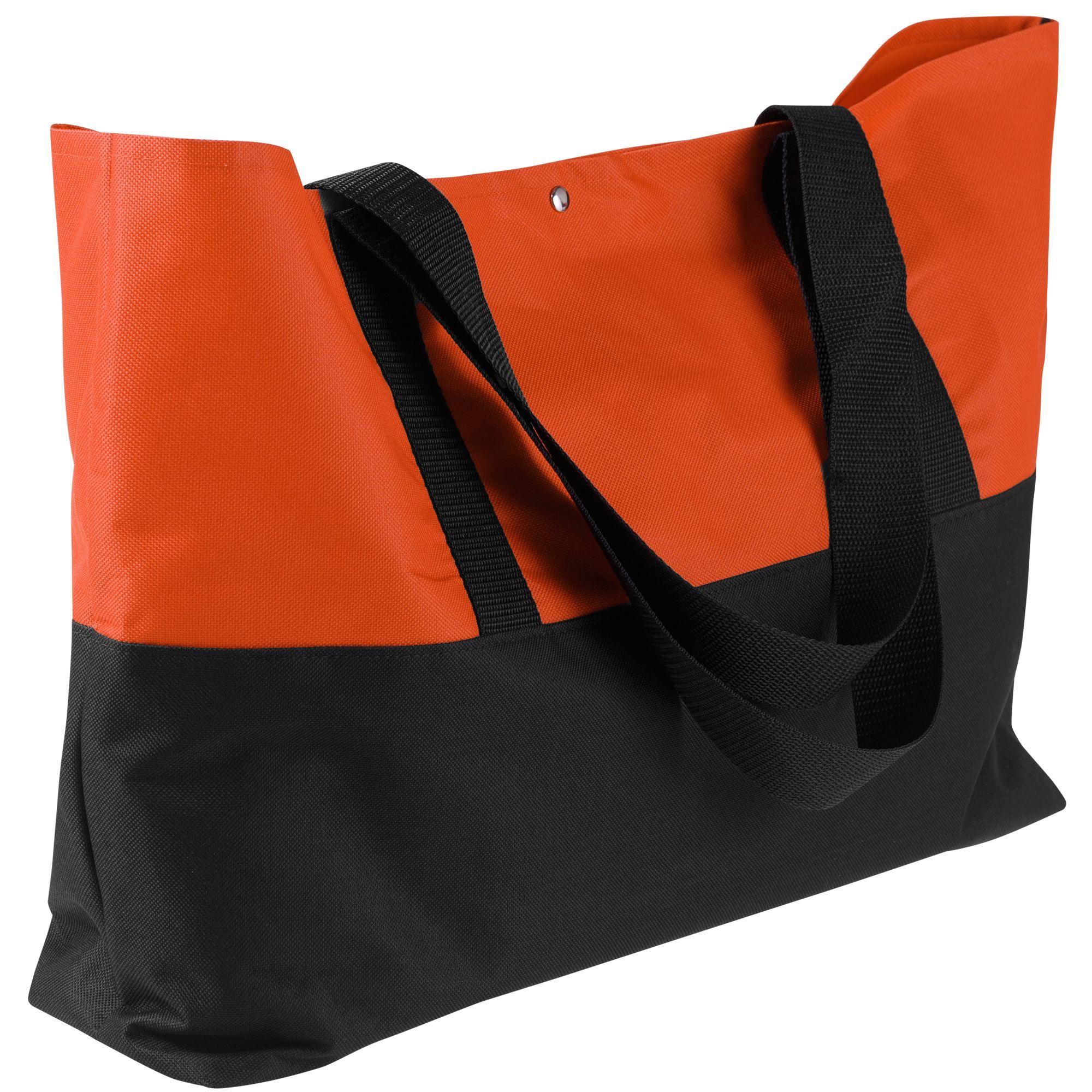Сумка для покупок Seaside, черно-оранжевая