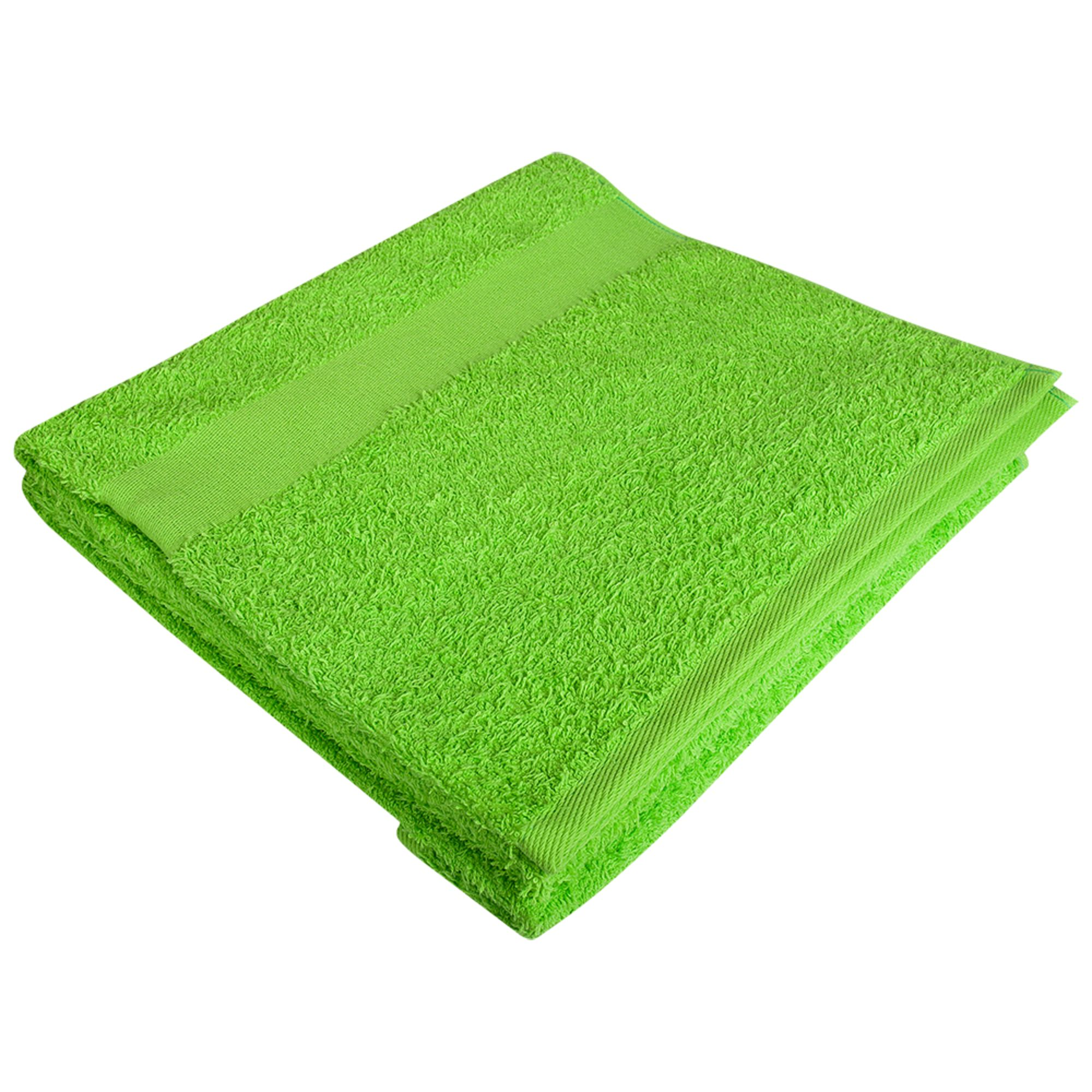 Полотенце махровое Large, зеленое яблоко