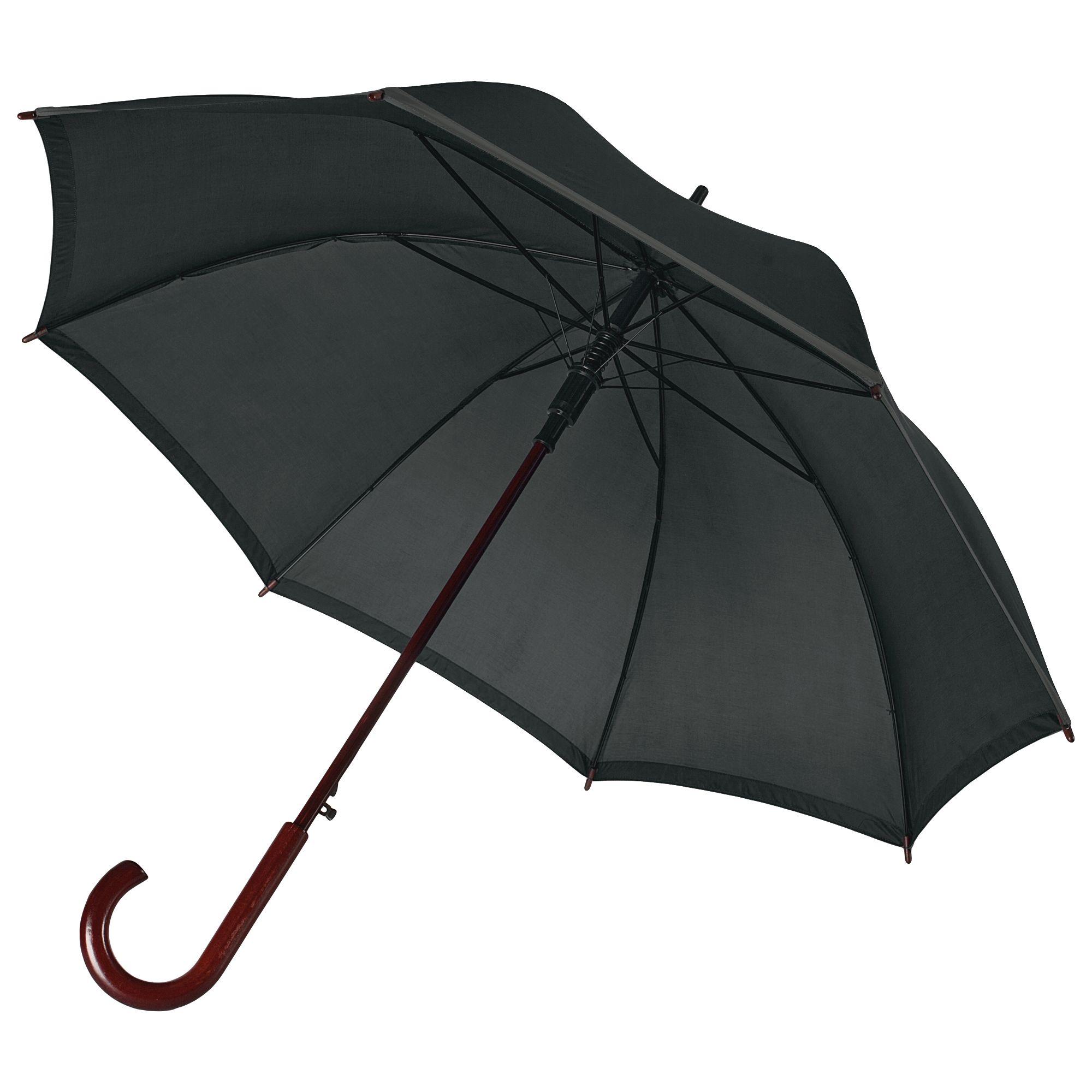 Зонт-трость Unit Reflect, черный