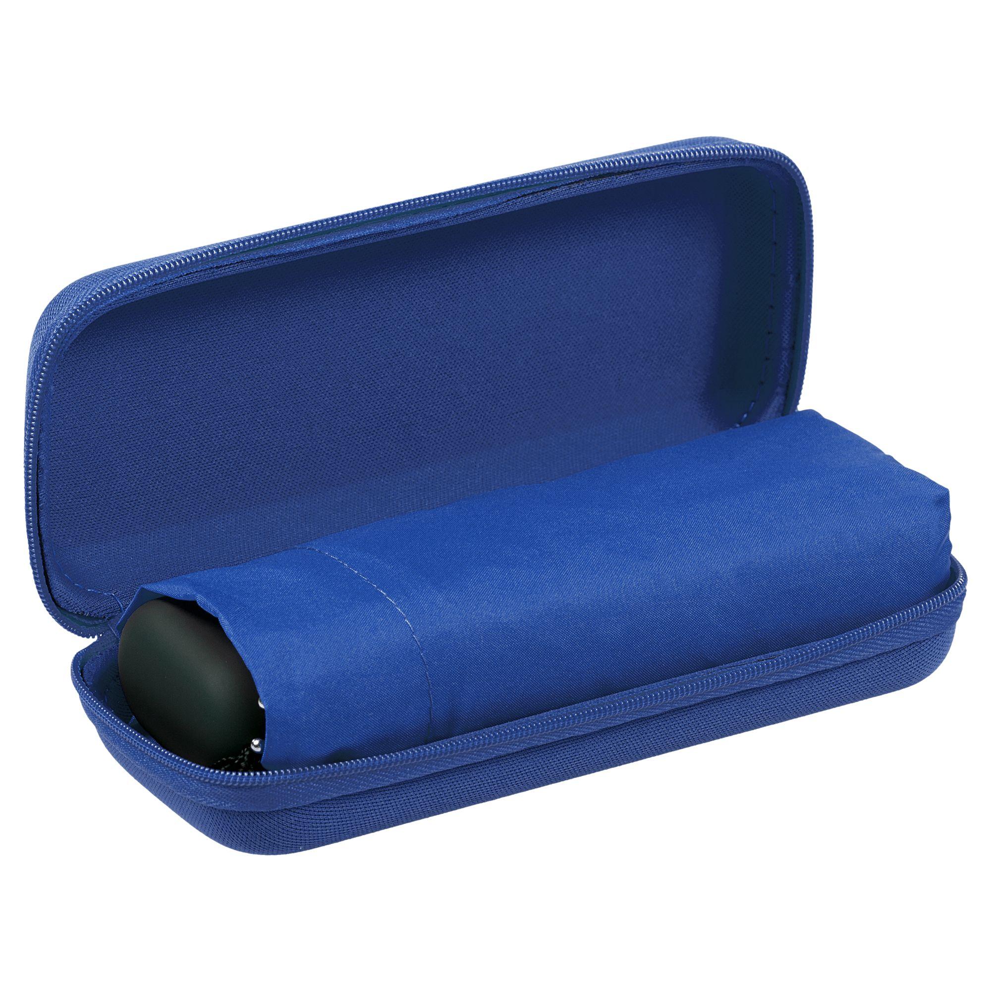 Зонт складной Unit Five, синий в синем чехле
