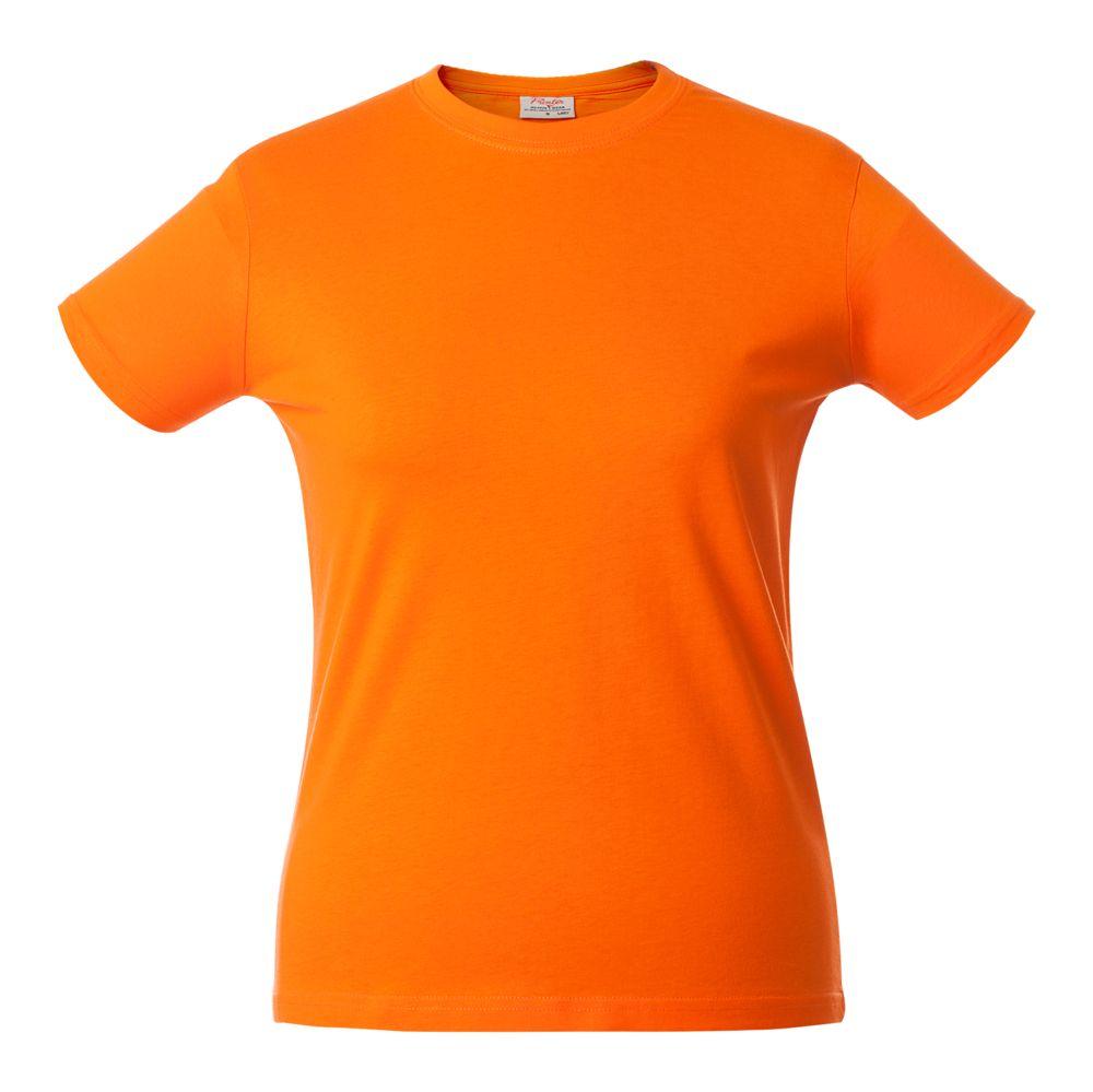 Футболка женская HEAVY LADY, оранжевая