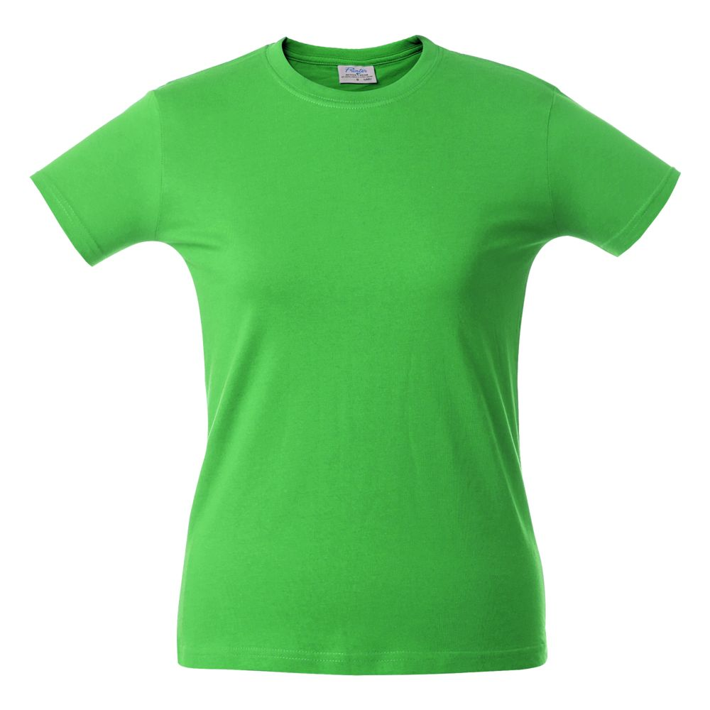 Футболка женская HEAVY LADY, зеленое яблоко
