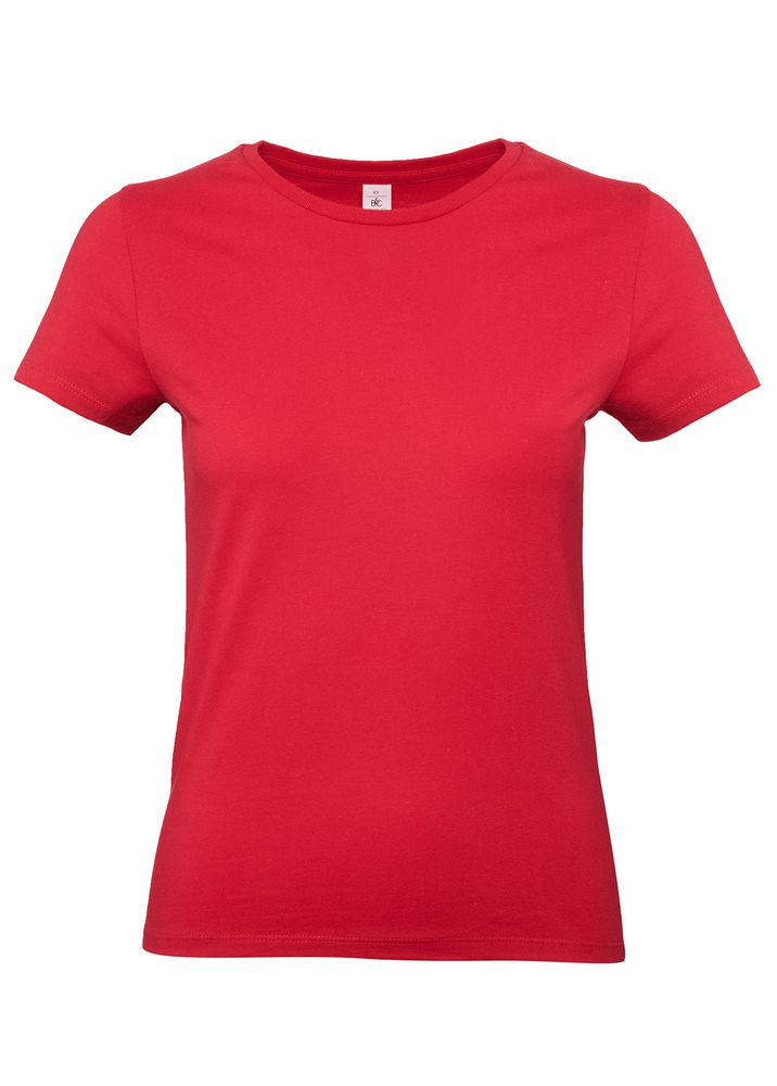 Футболка женская E190 красная