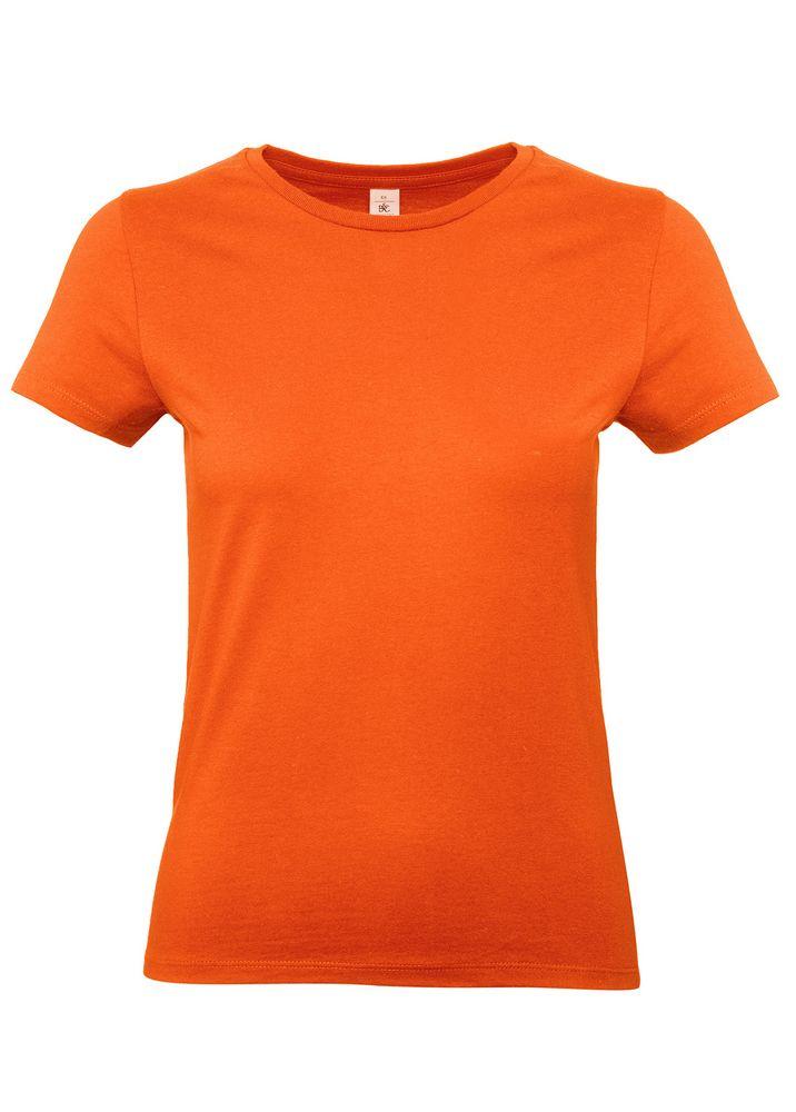 Футболка женская E190 оранжевая