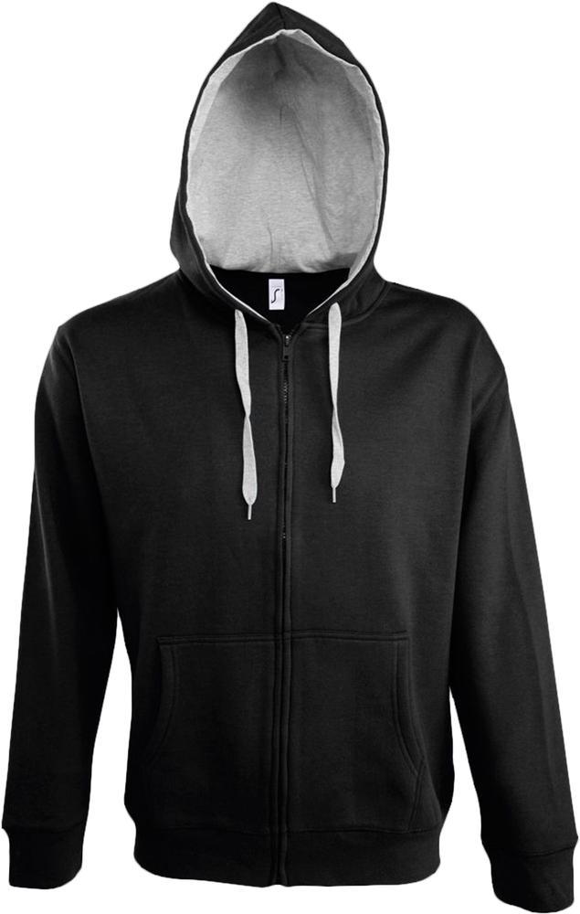 Толстовка мужская Soul Men 290 с контрастным капюшоном, черная