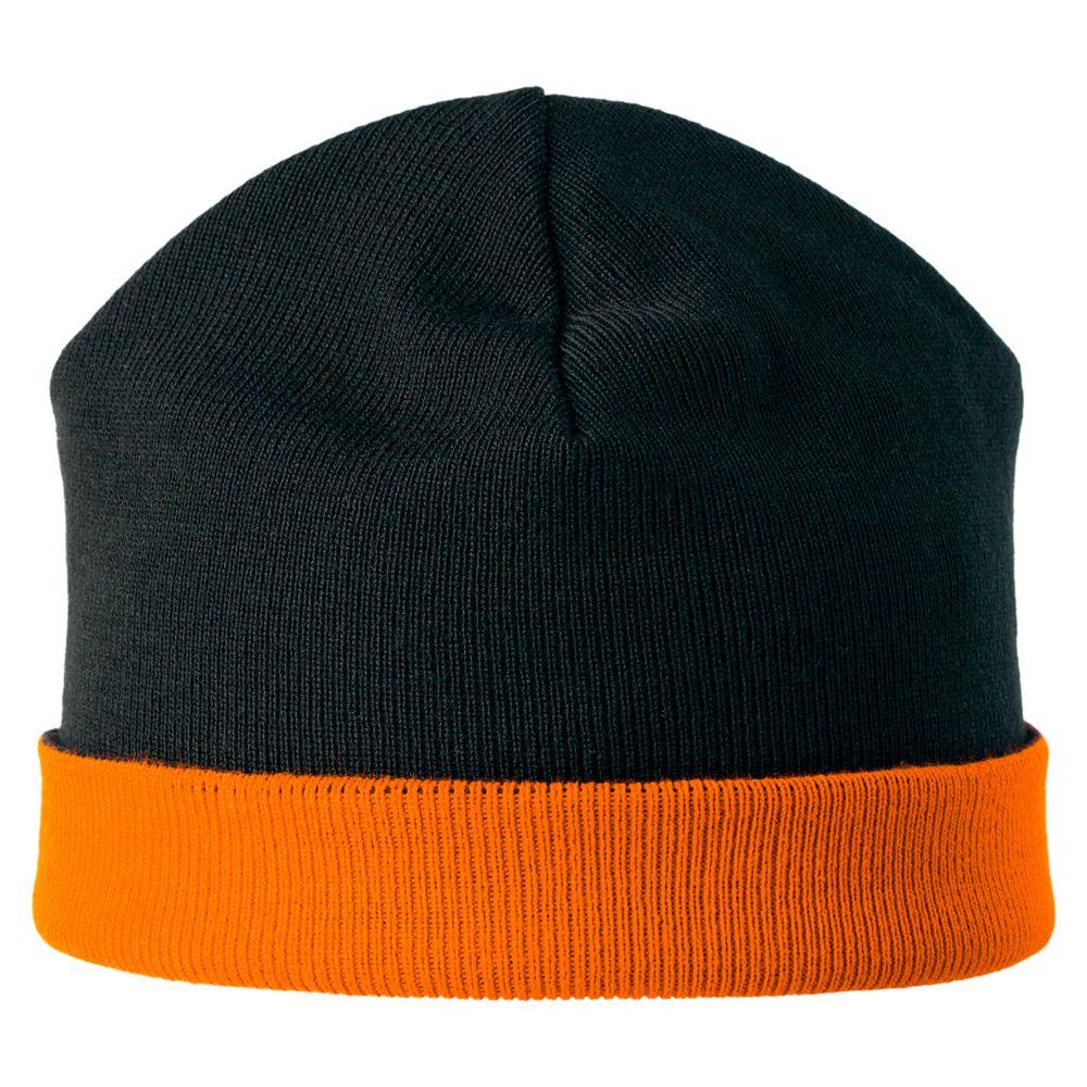 Шапка двусторонняя Multi, черно-оранжевая