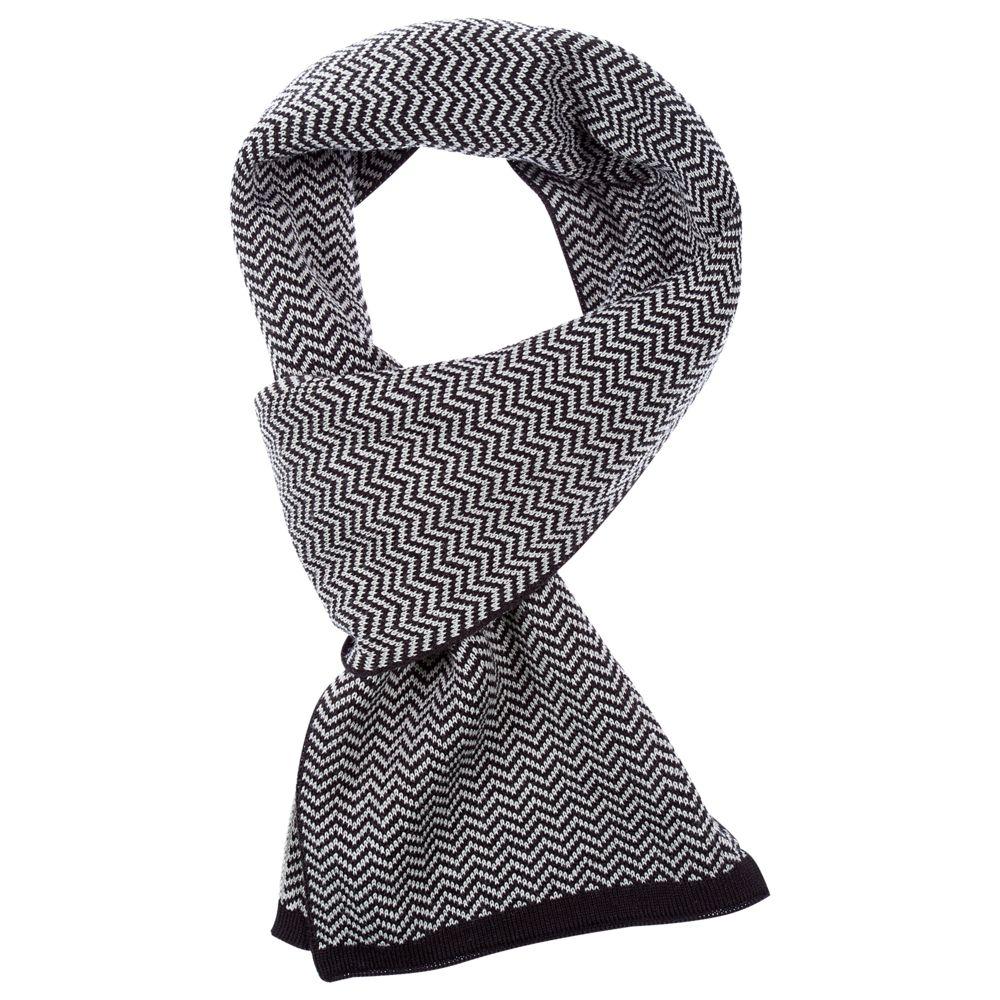 Шарф Steps, черно-серый