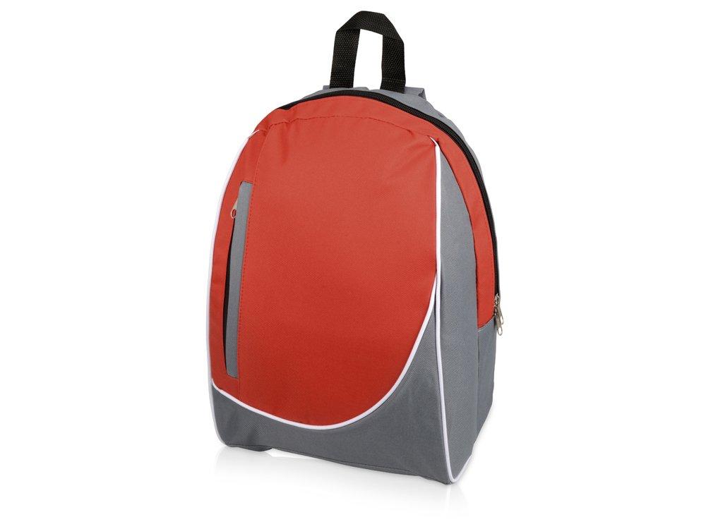 Рюкзак «Джек», серый/красный