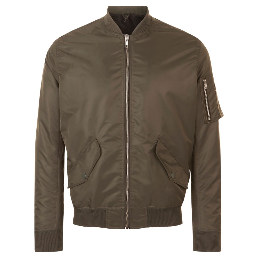 Куртка бомбер унисекс REBEL, коричневая