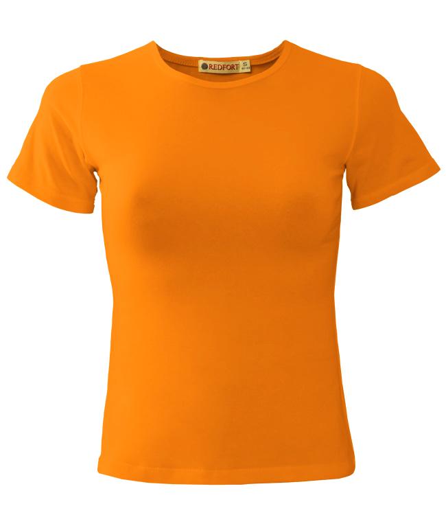 Футболка женская Redfort lady стрейч 195, оранжевая