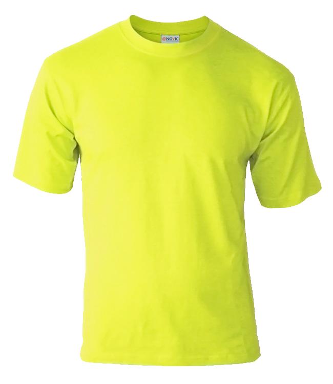 Футболка подростковая Novic Junior 155, лимонная