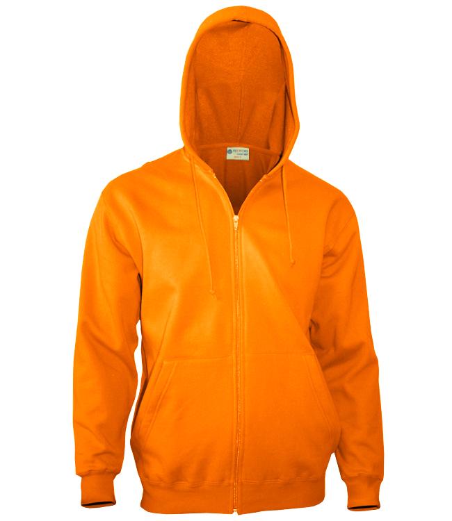 Толстовка Redfort с молнией 260, оранжевая