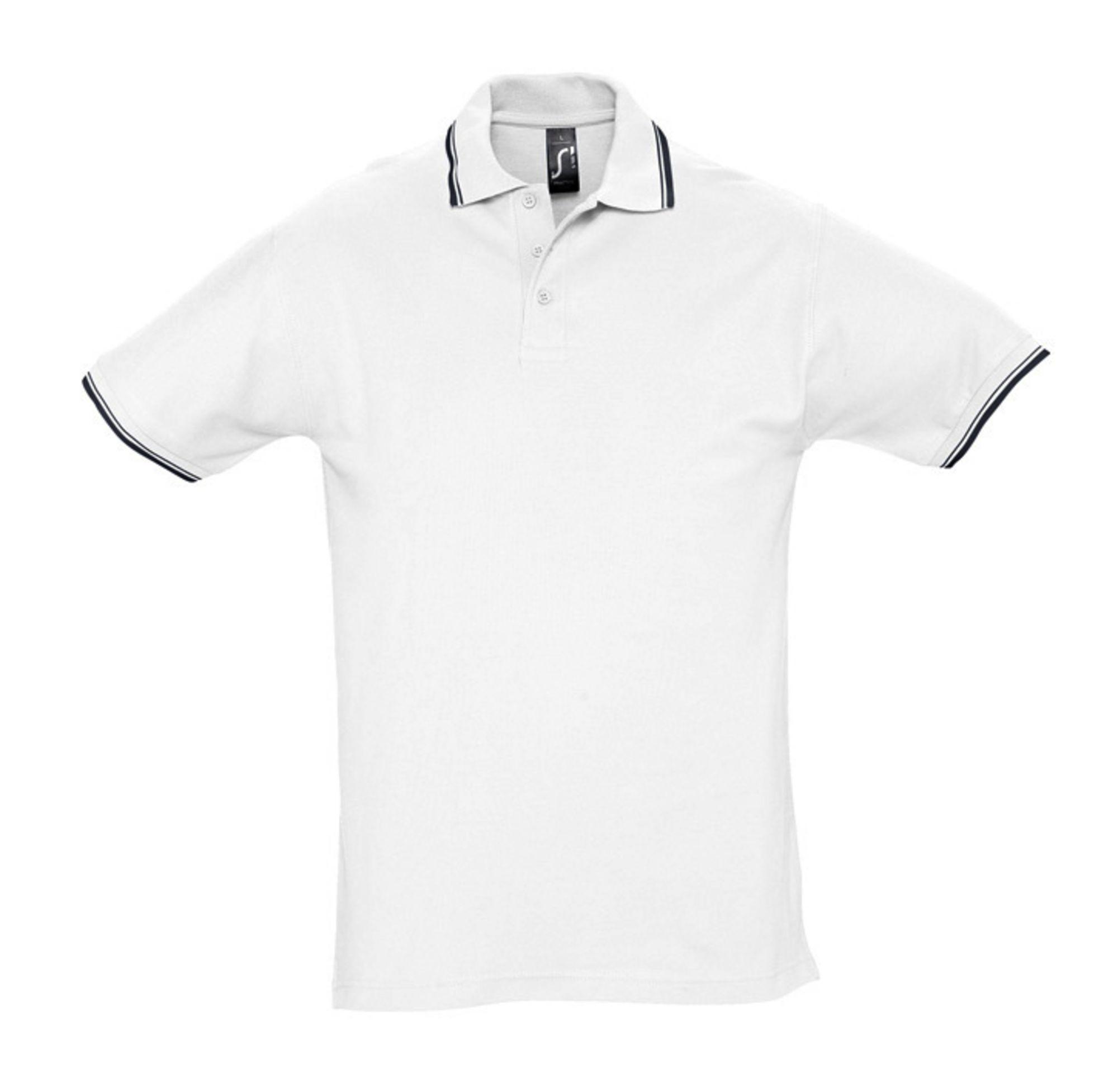 Рубашка поло мужская PRACTICE 270, белый/темно-синий