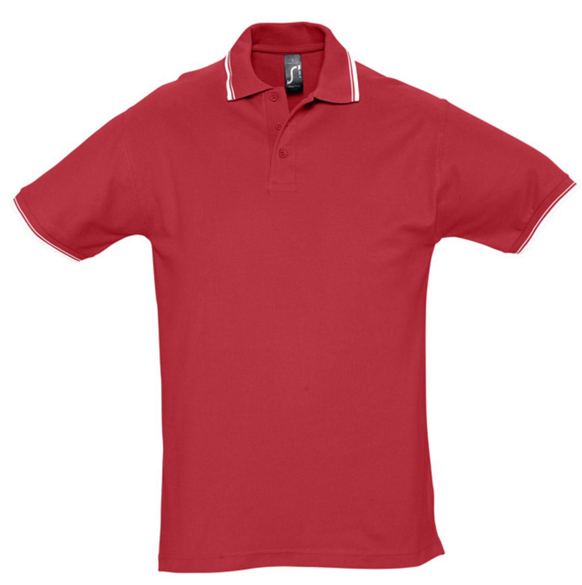 Рубашка поло мужская PRACTICE 270, красный/белый
