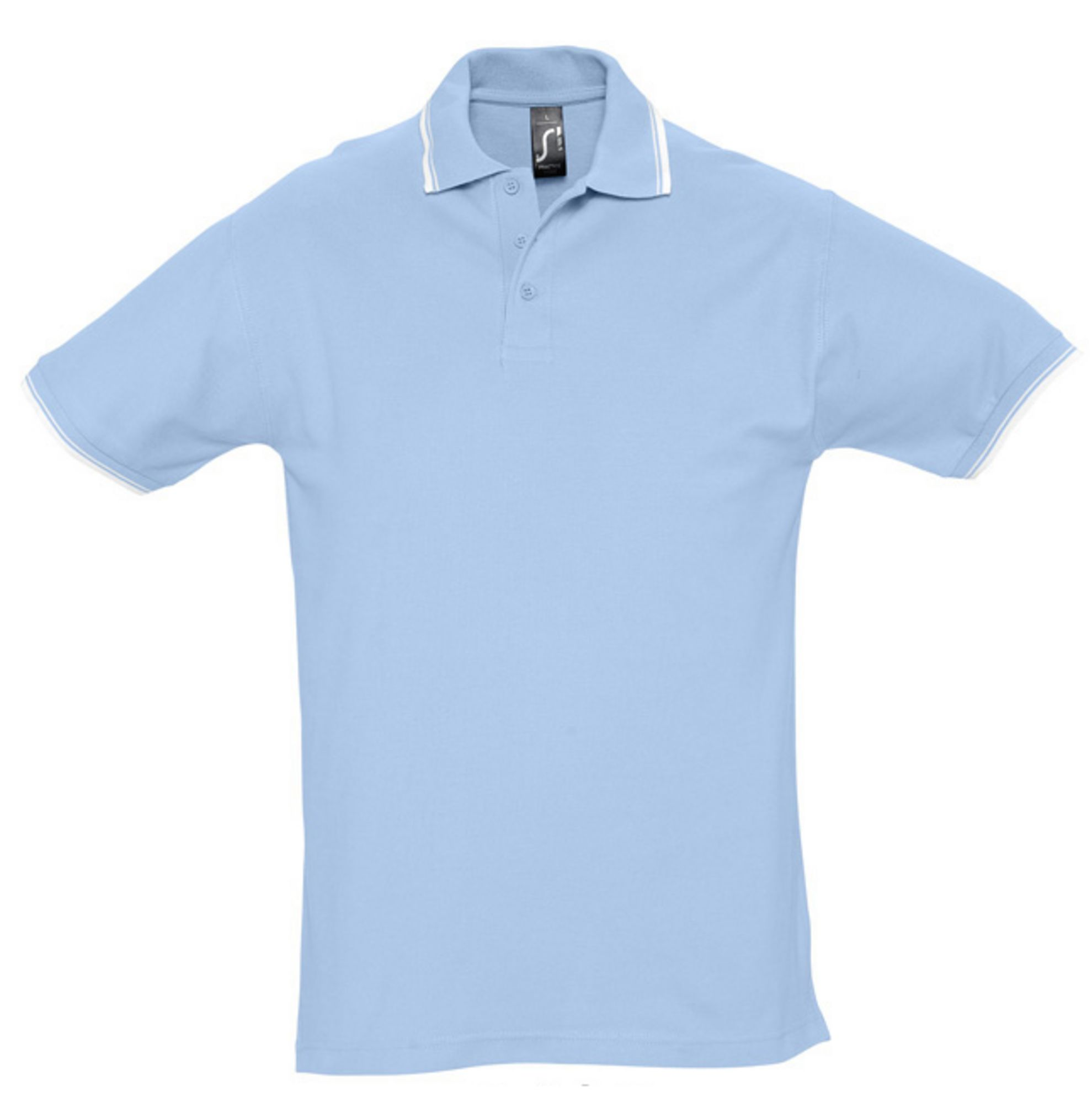 Рубашка поло мужская PRACTICE 270, голубой/белый