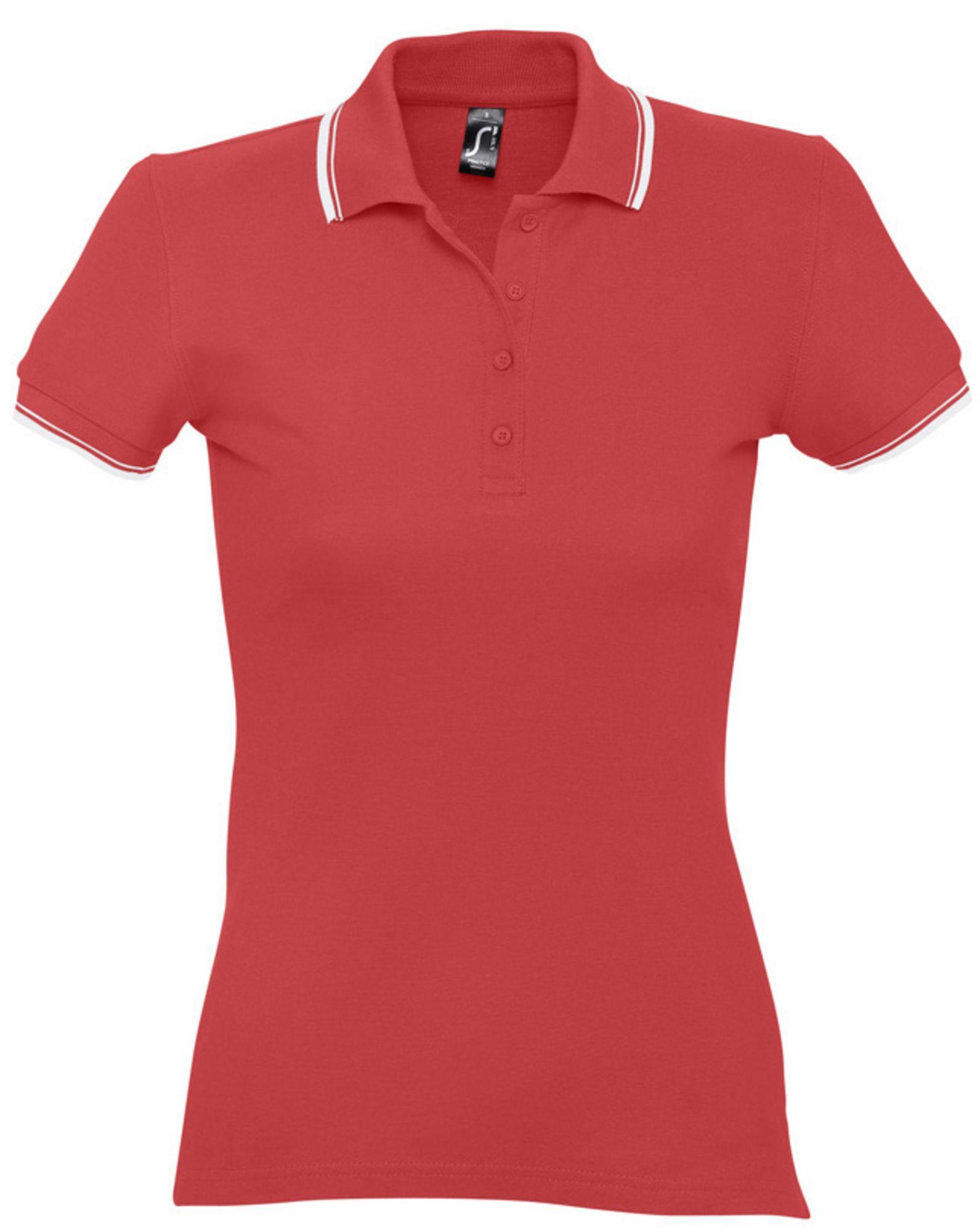 Рубашка поло женская Practice Women 270, красная с белым