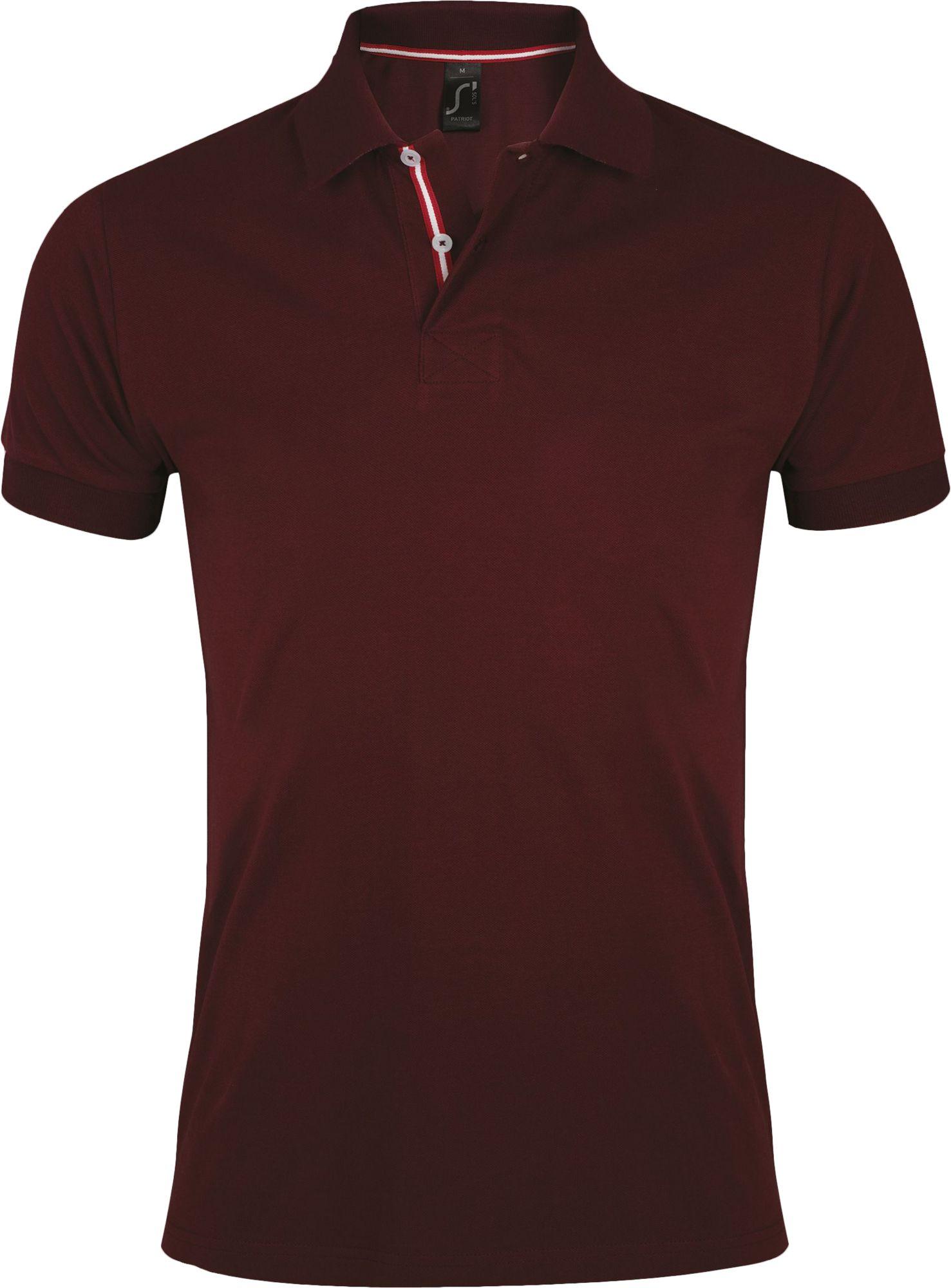 Рубашка поло мужская PATRIOT 200, бордовая с красным