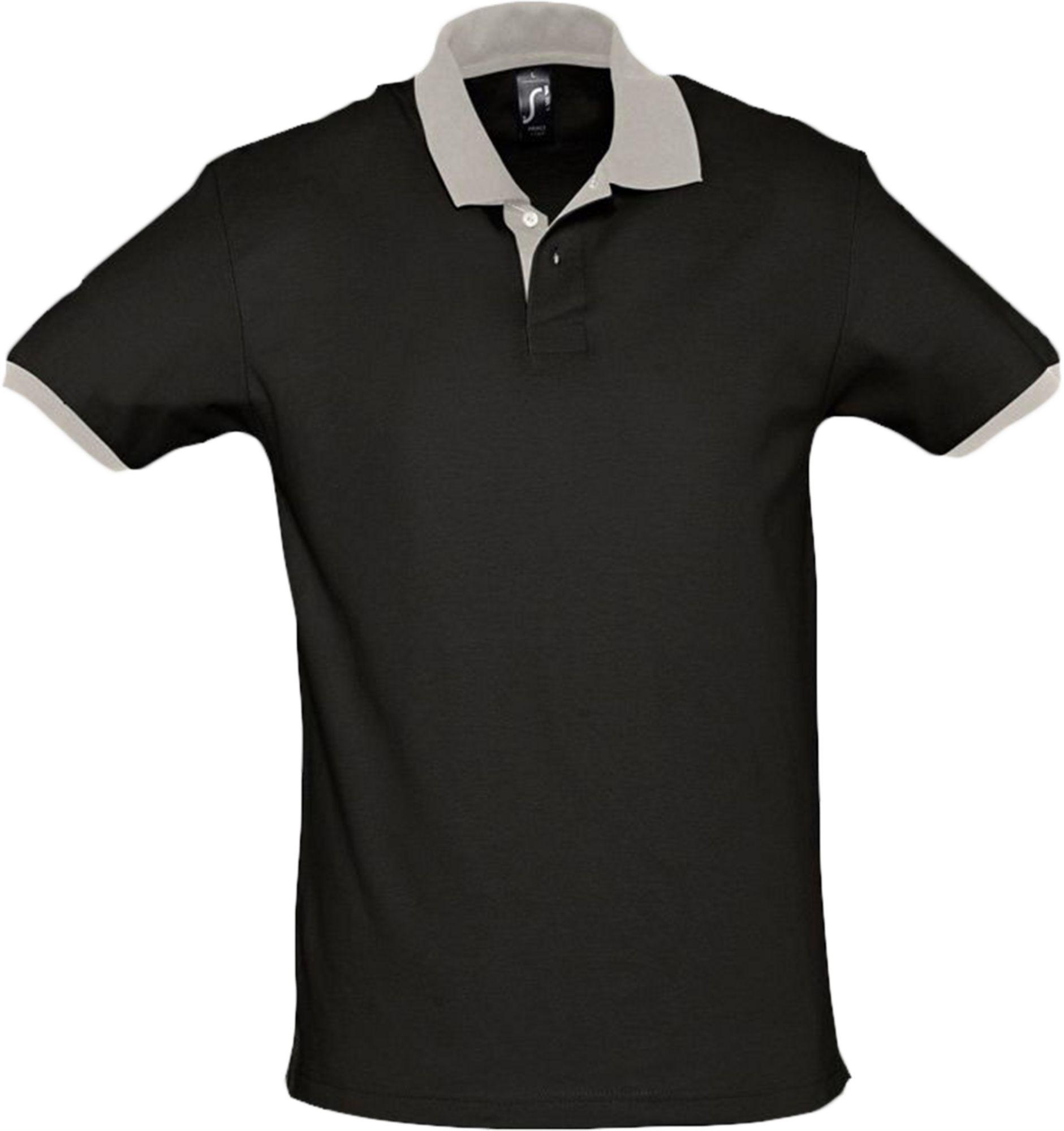 Рубашка поло Prince 190, черная с серым